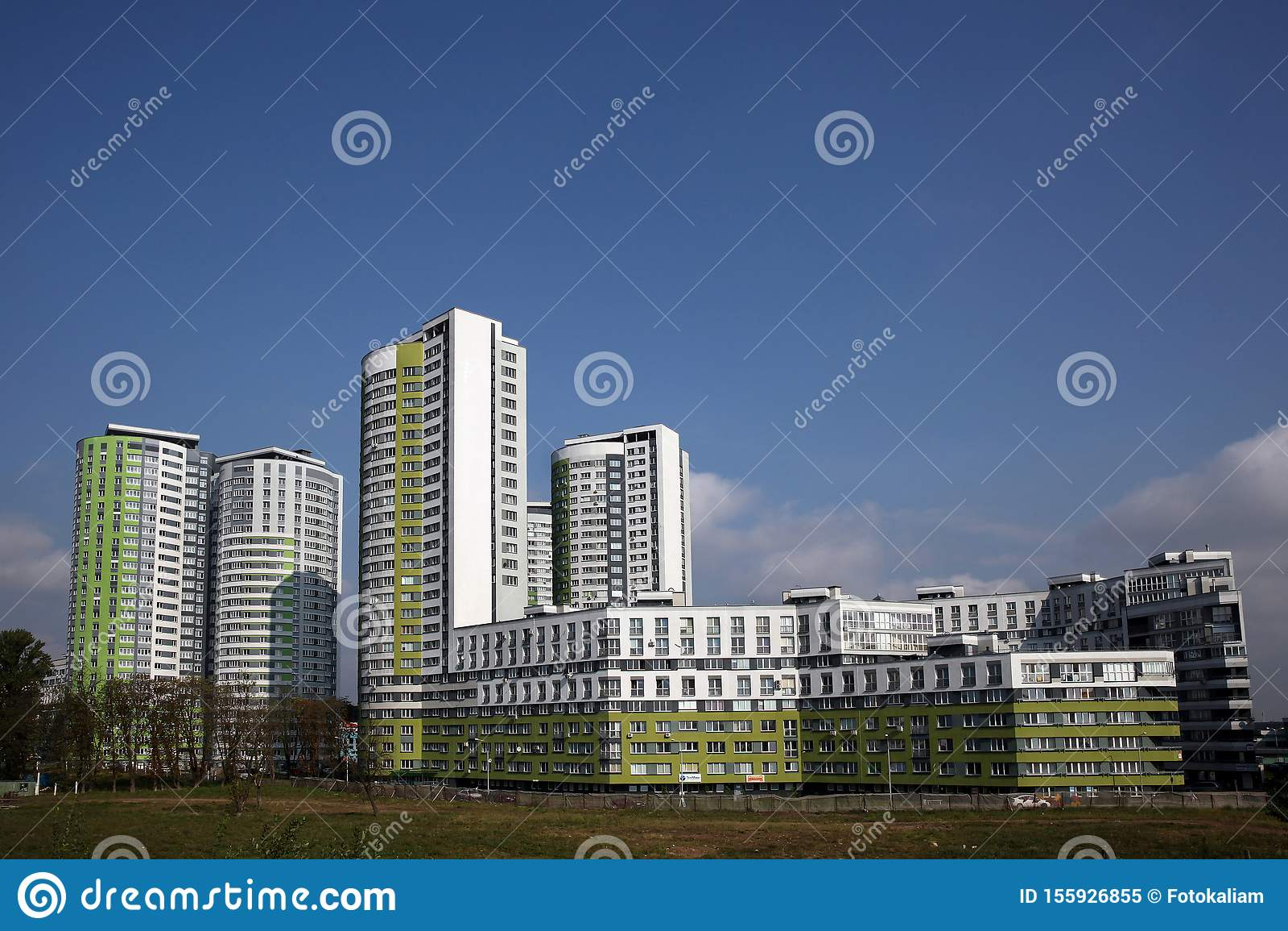 Multi-storey residential buildings on Skryganova Street