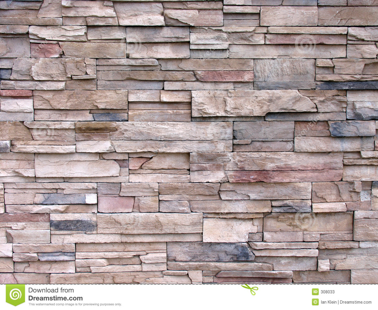 Fancy Wall Stones : Multi toned decorative stone wall stock image