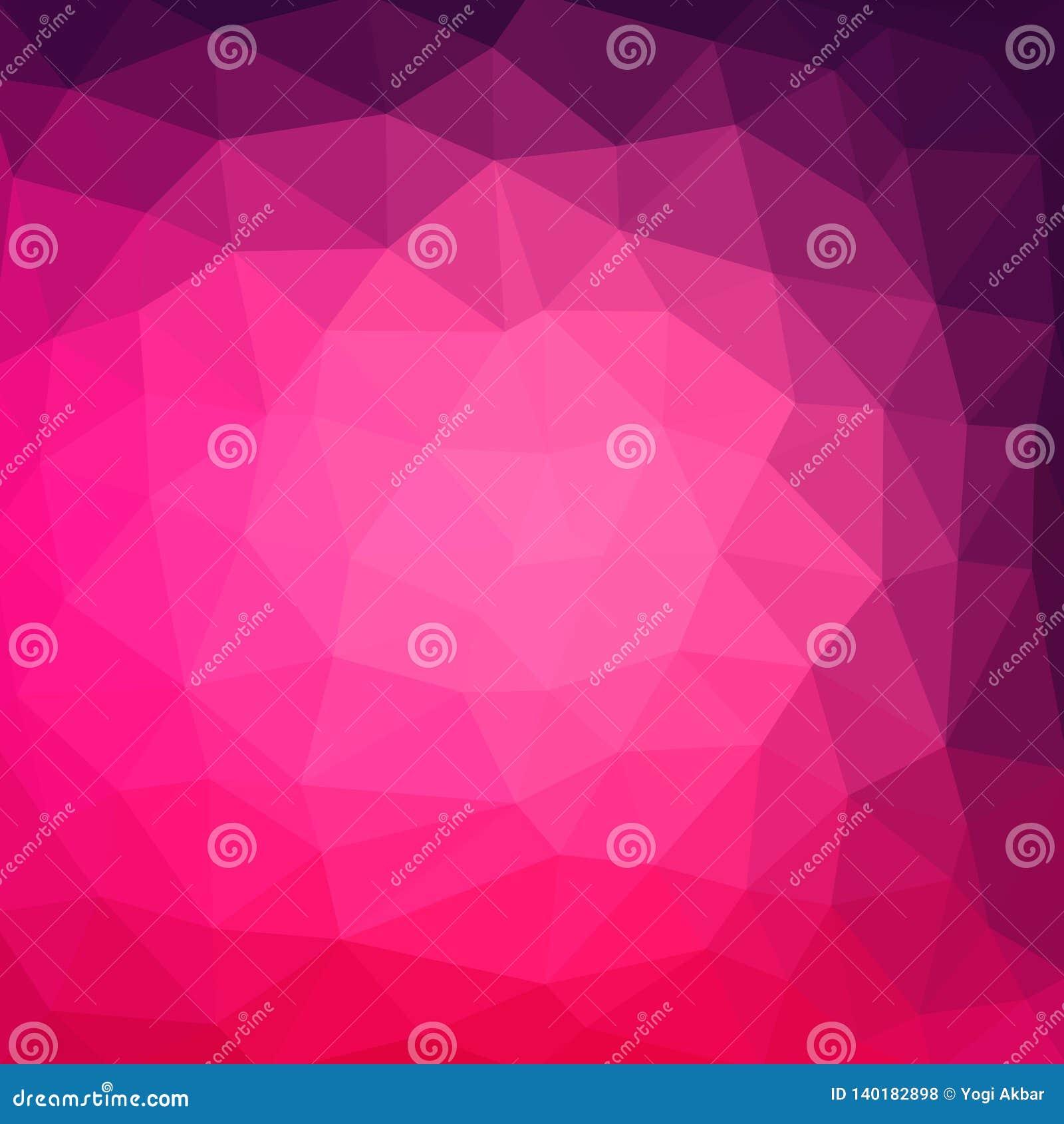 Multicolor пурпурное, предпосылка иллюстрации градиента стиля пинка геометрическая rumpled триангулярная низкая поли Дизайн векто