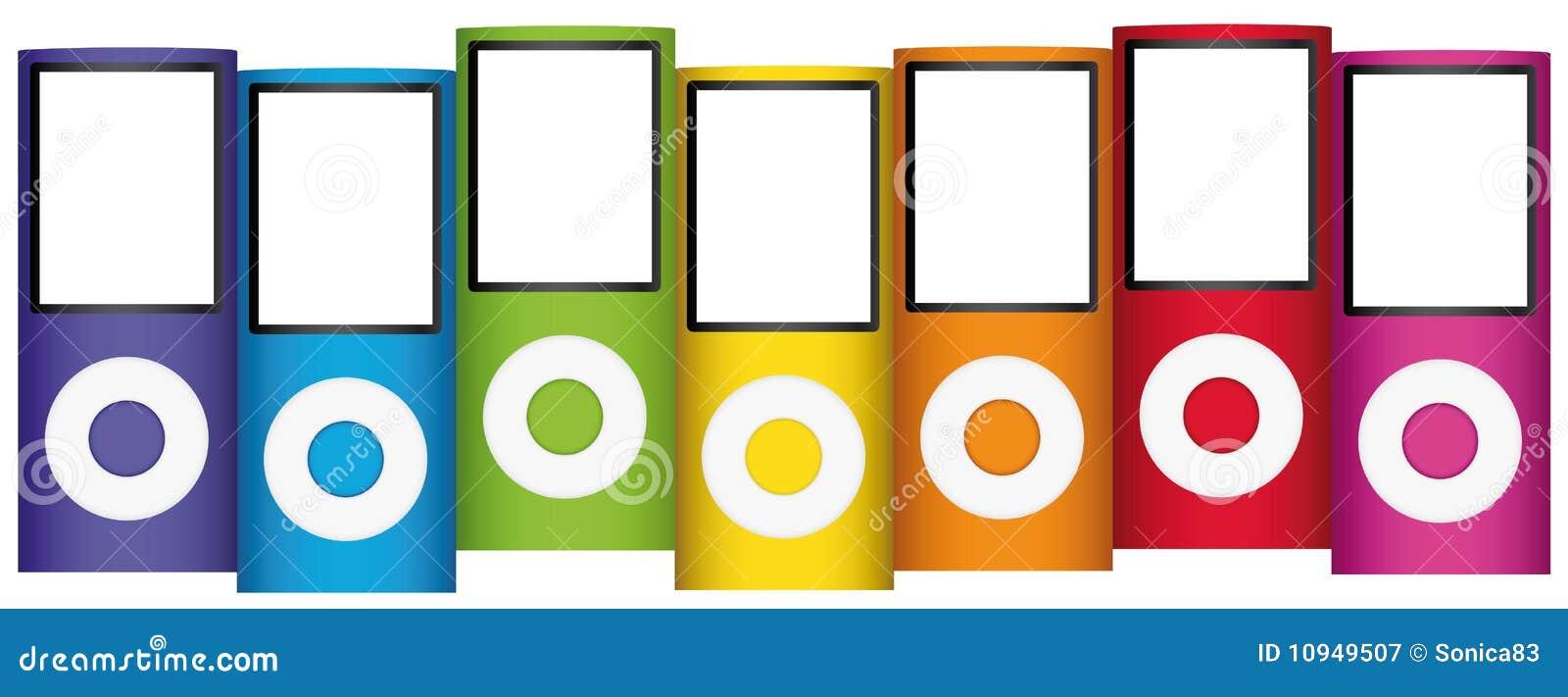 Multicolor аудиоплейеры mp3