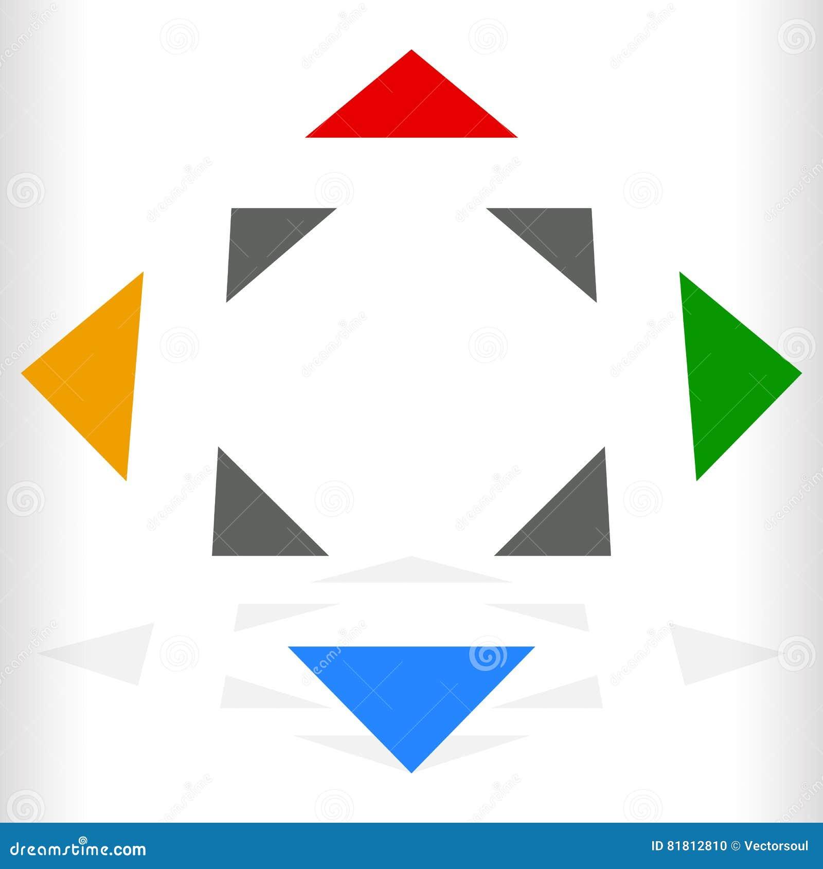Multicolor геометрический значок, логотип для родового навигации, trans