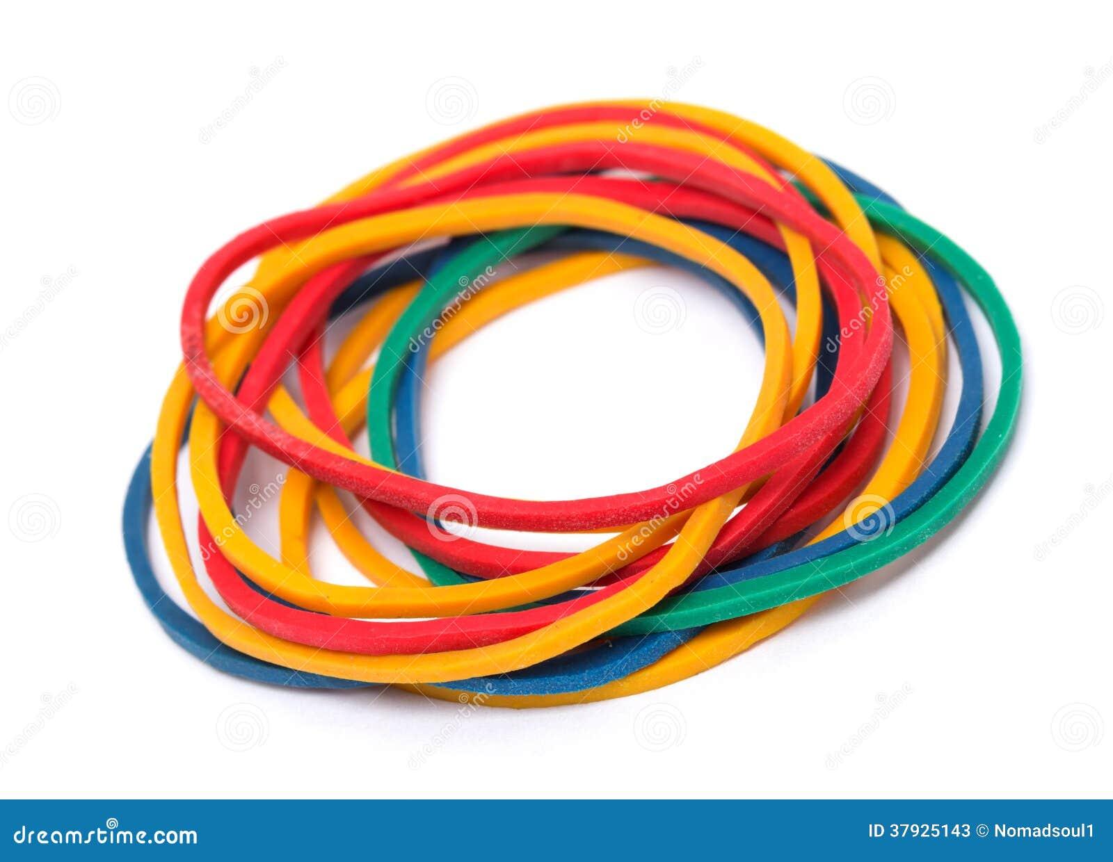 Multicolor резиновые диапазоны денег