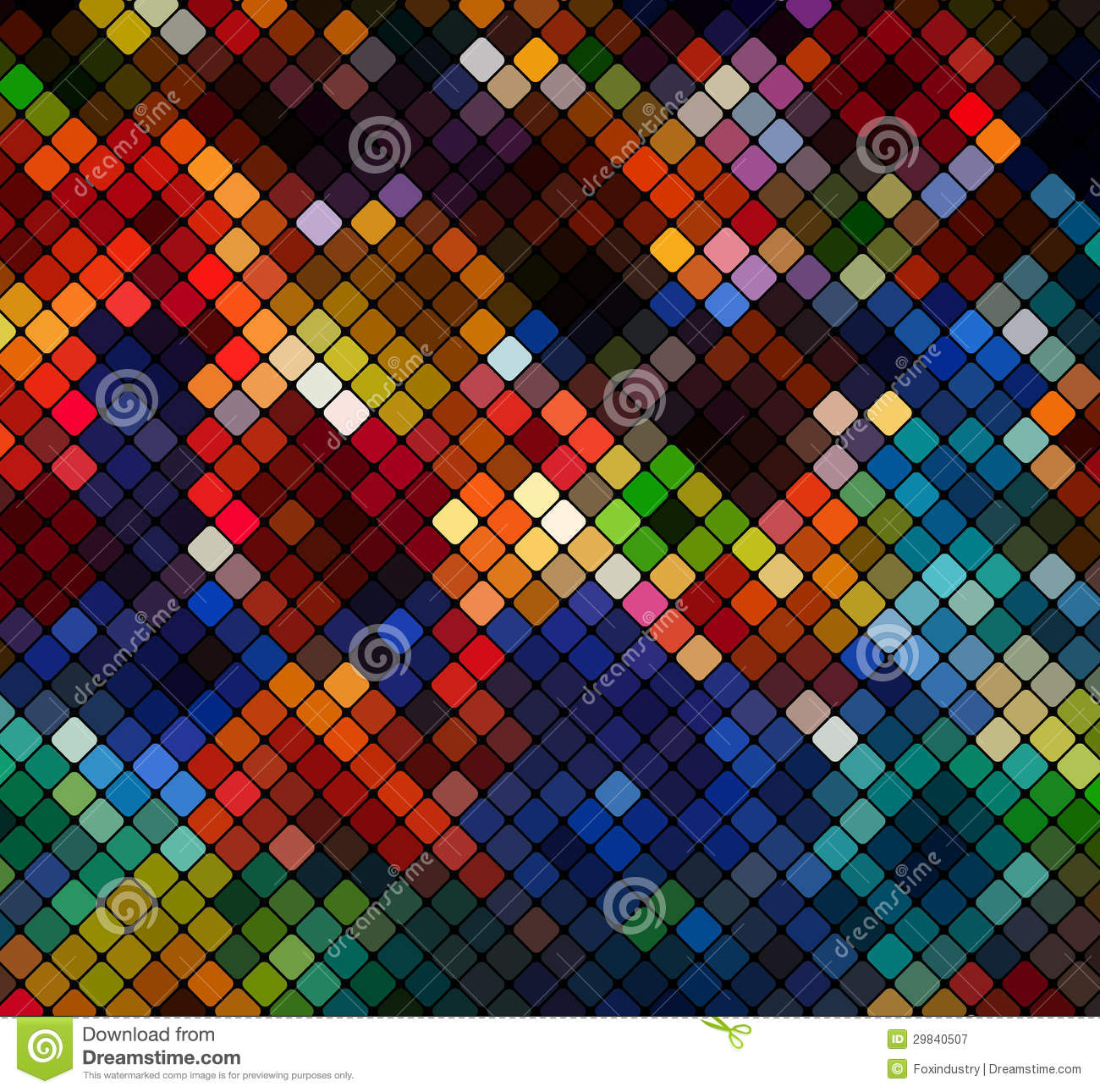 Multicolor Abstract Light Disco Background Pixel Mosaic V