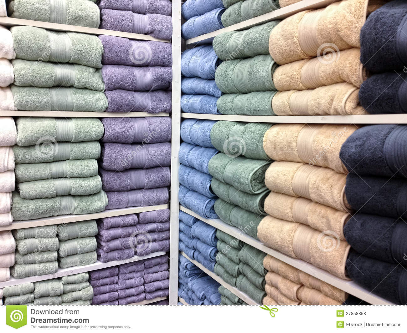 Multicolor Bath Towels For Sale Stock Photo Image Of Lifestyle