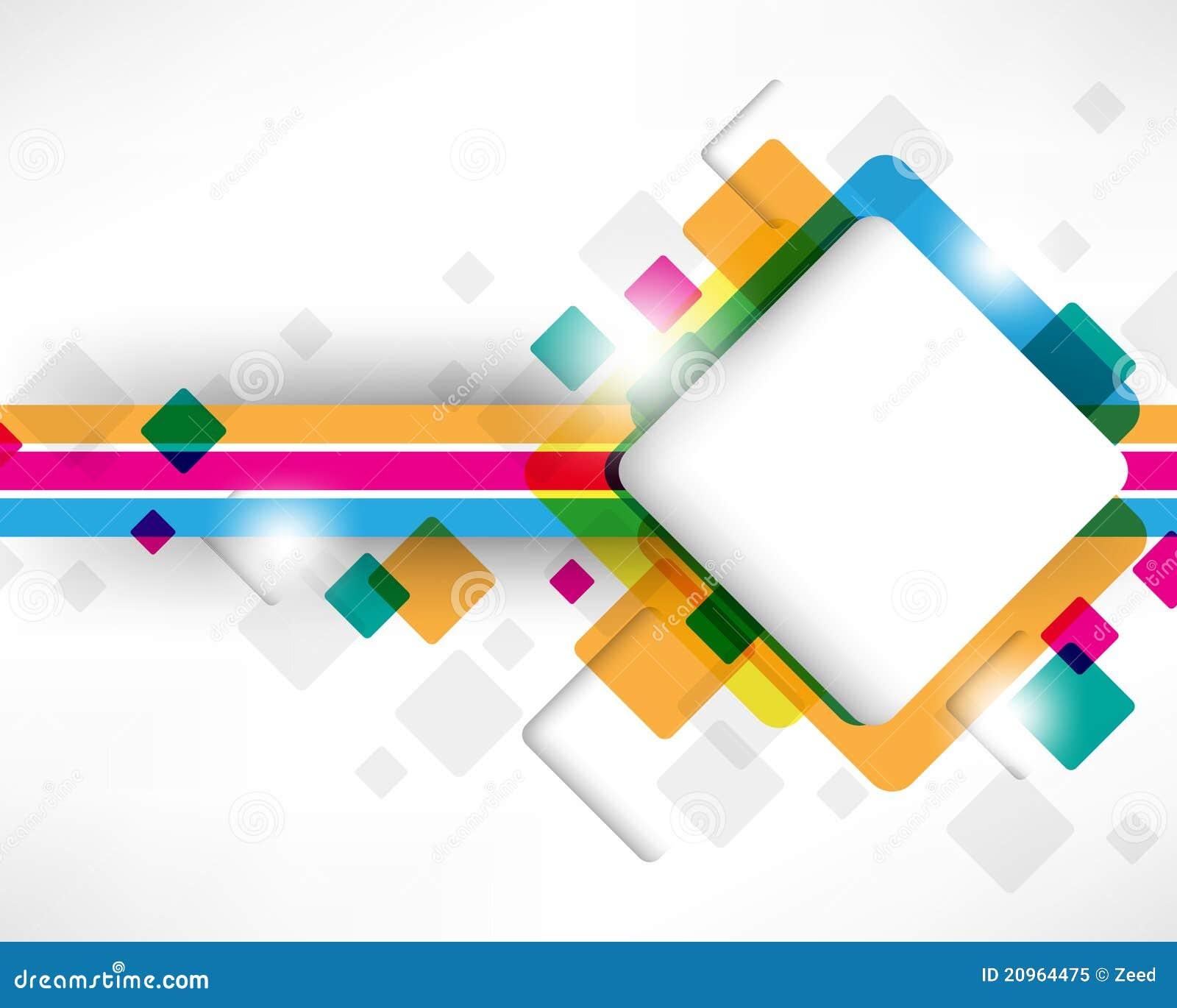 Multicolor Box Square Design Stock Vector Illustration Of Modern