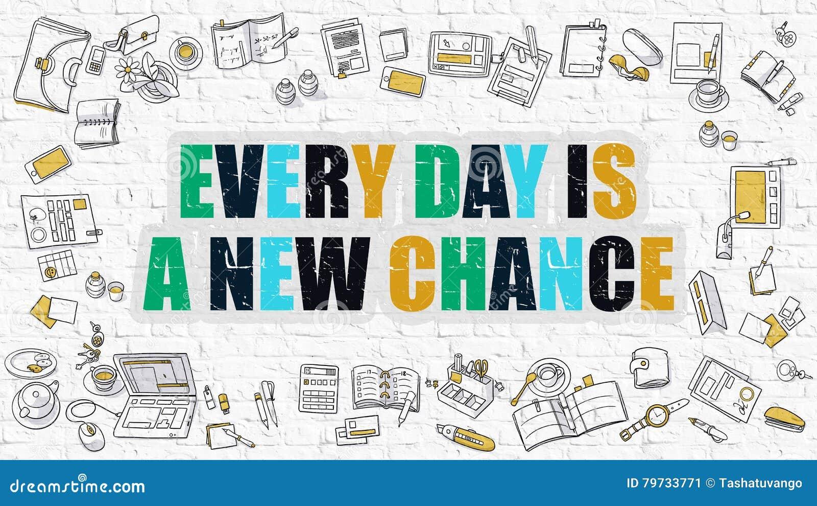 Multicolor cada día es una nueva ocasión en Brickwall blanco