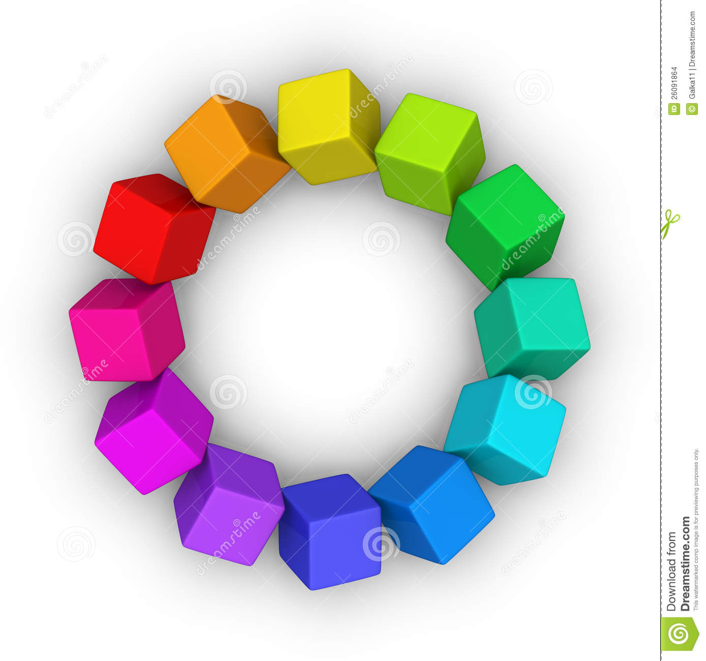 Multicolor Cubes Circle Stock Images Image 26091864