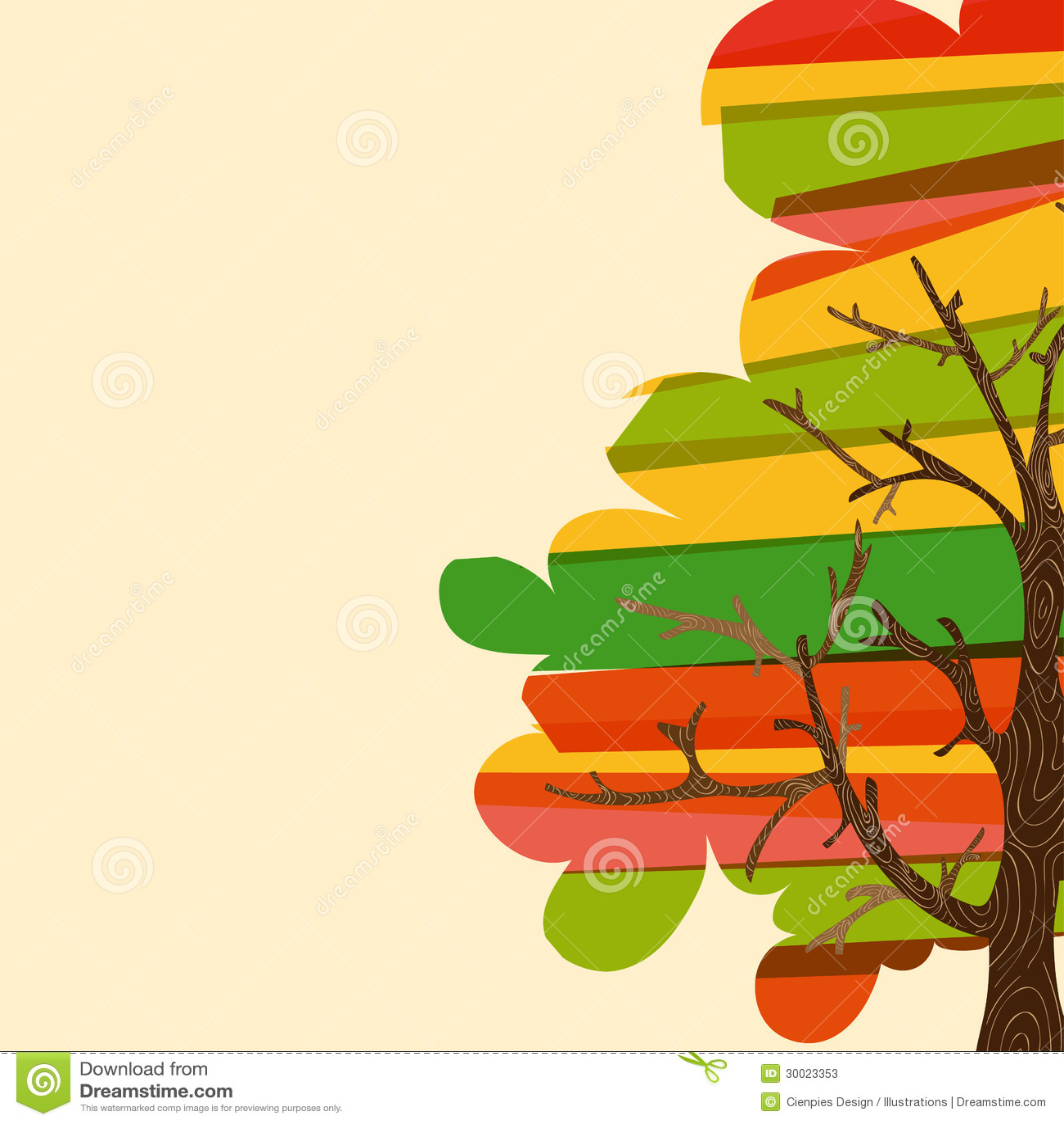 Multicolor drzewny tło