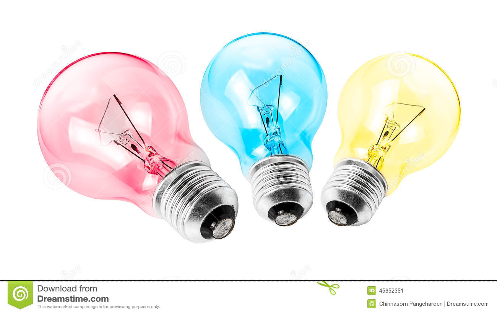 Multi Coloured Light Bulbs Home Decor