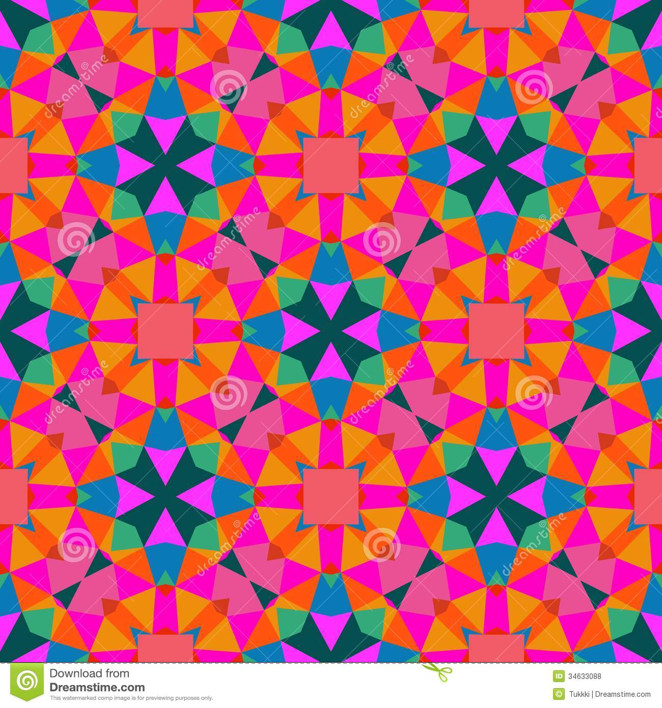 Background Colorful Room: Multicolor Geometric Pattern In Bright Color. Stock Vector