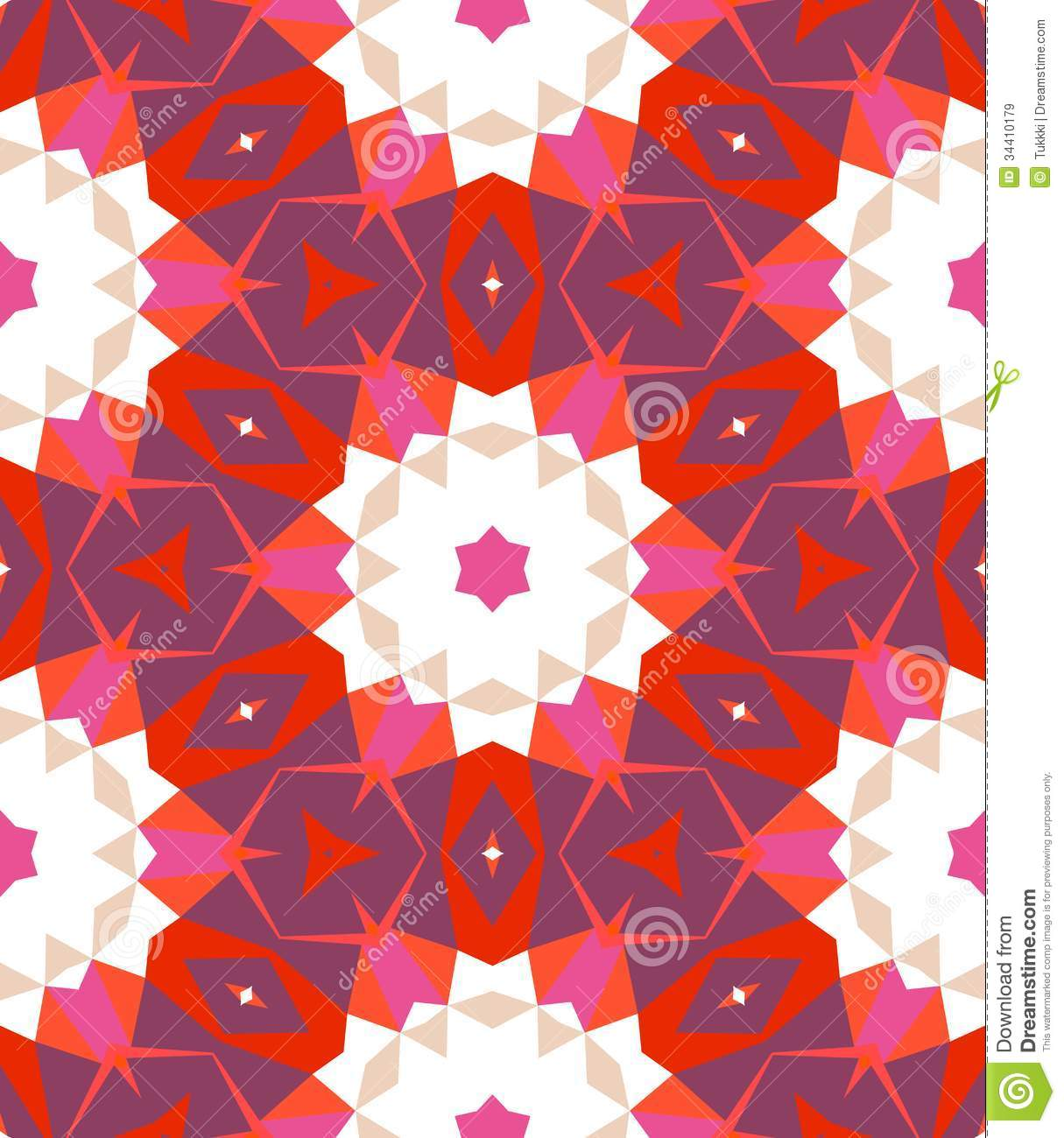 Multicolor Geometric Pattern In Bright Color Royalty Free