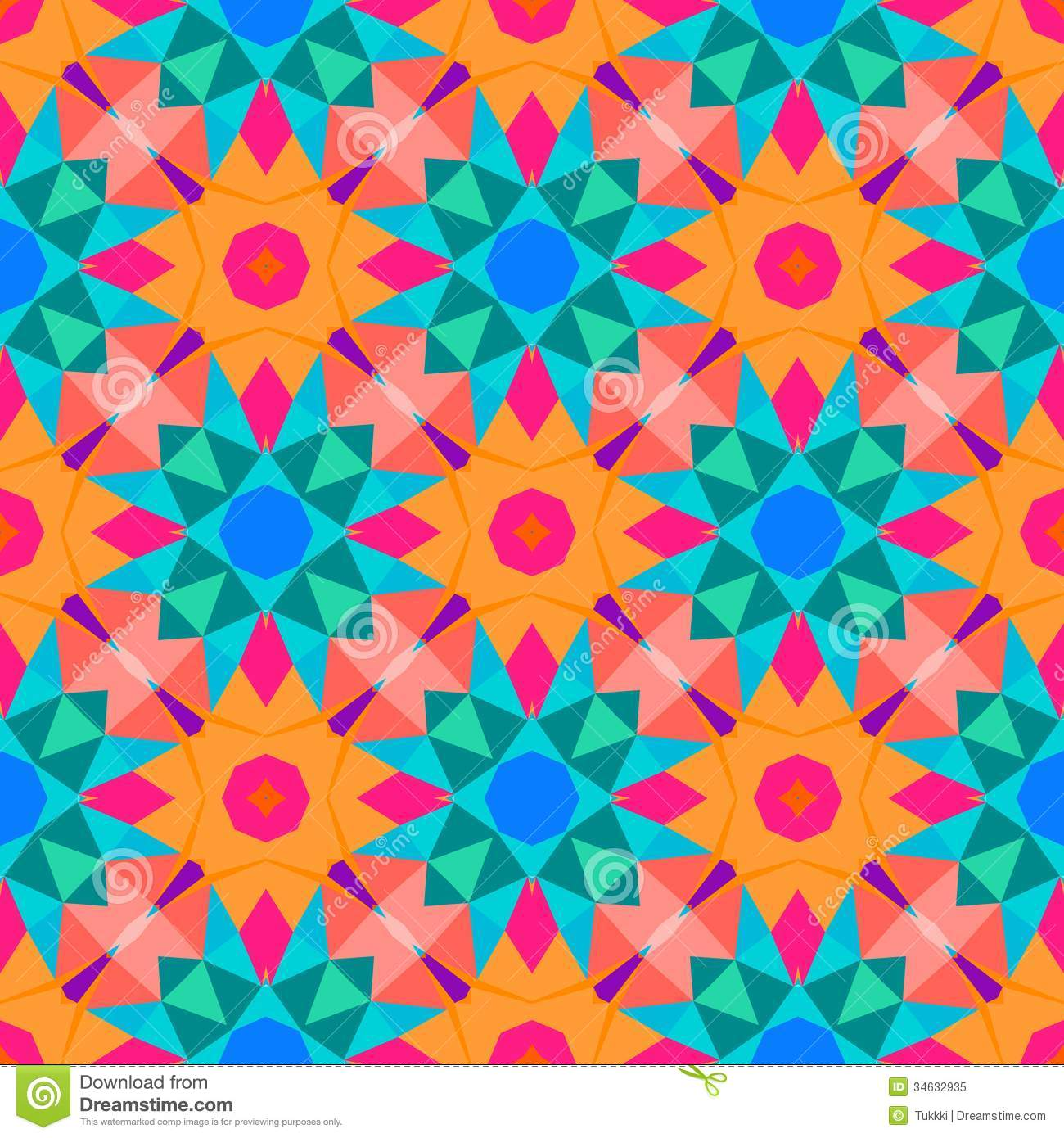 Multicolor Geometric Pattern In Bright Color. Royalty Free ... Bright Colourful Patterns