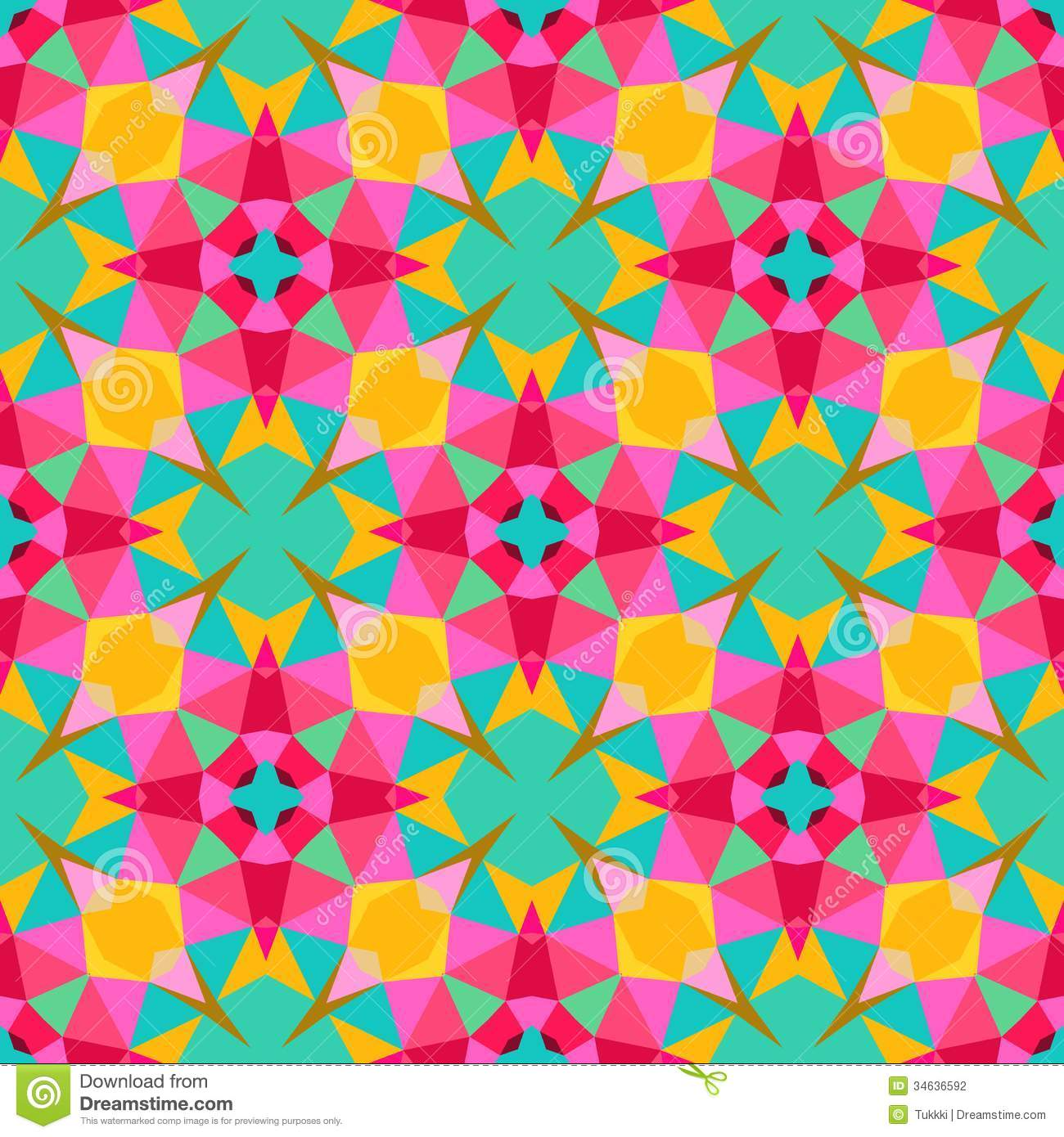 Multicolor Geometric Pattern In Bright Color. Stock ... Bright Colourful Patterns