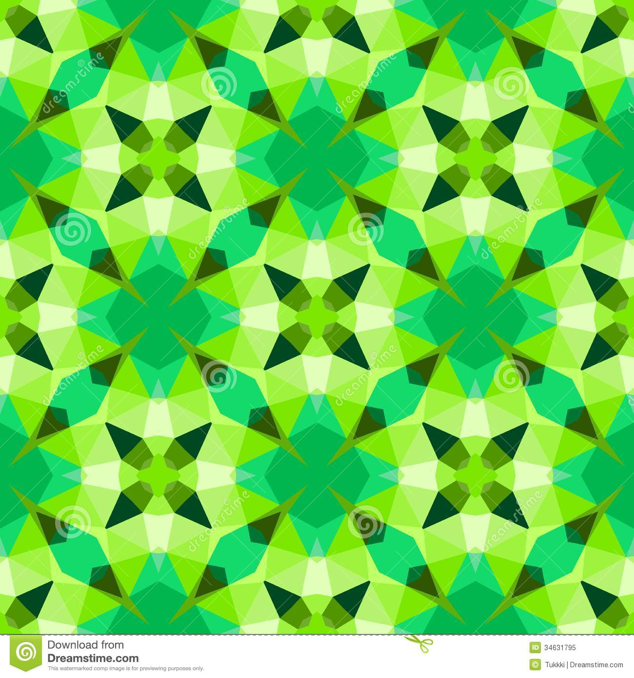 Multicolor Geometric Pattern In Bright Green. Royalty Free Stock Photo ...