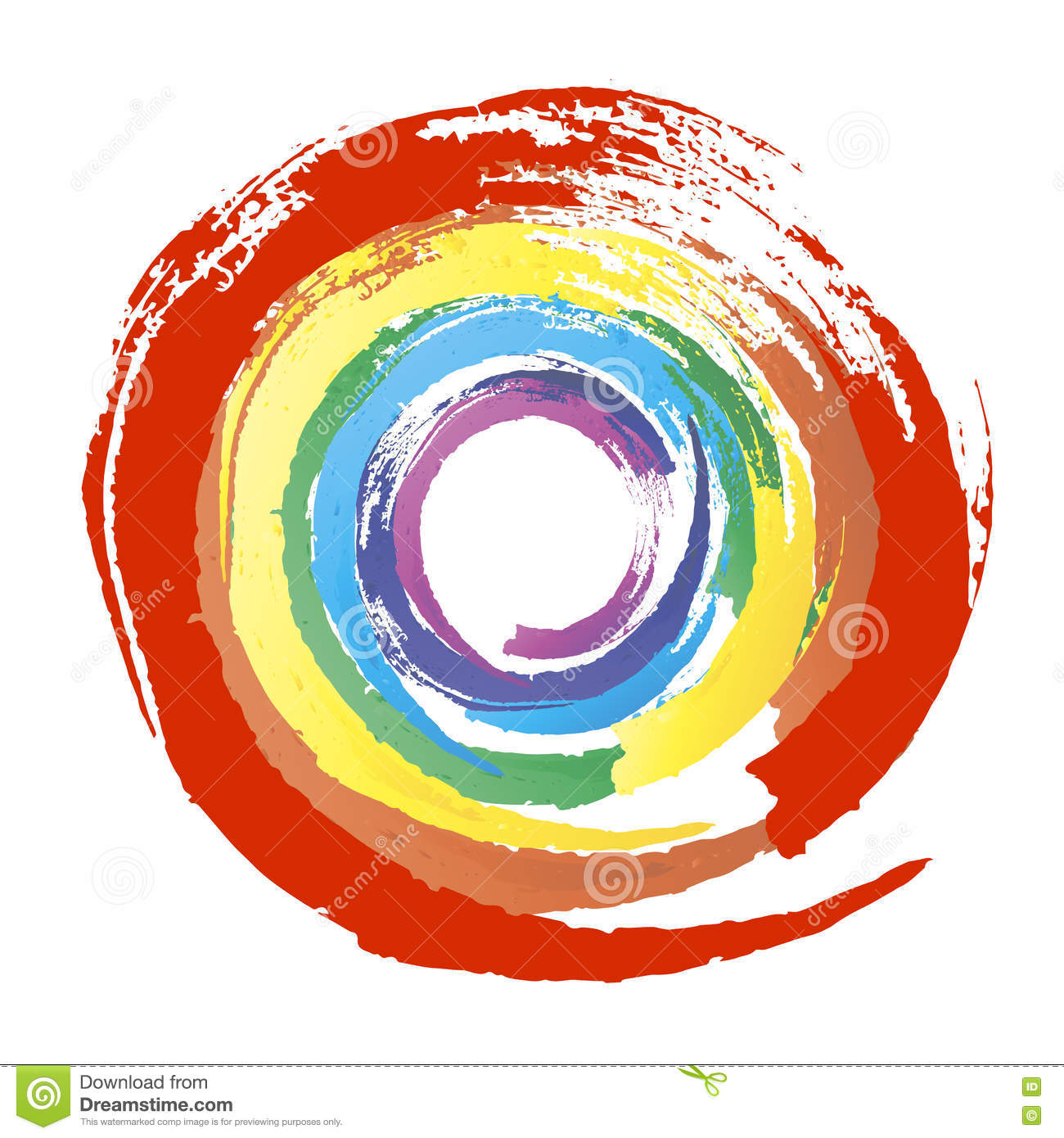 Multicolor Grunge Circle Stock Vector  Image 74247184