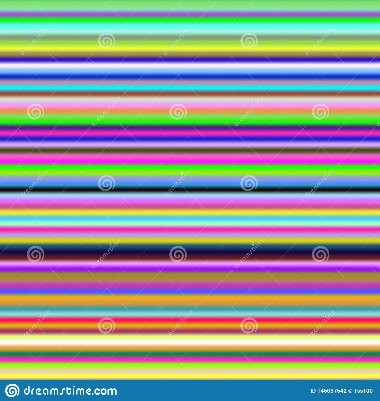 Multicolor horizontal stripes, abstract gradient background