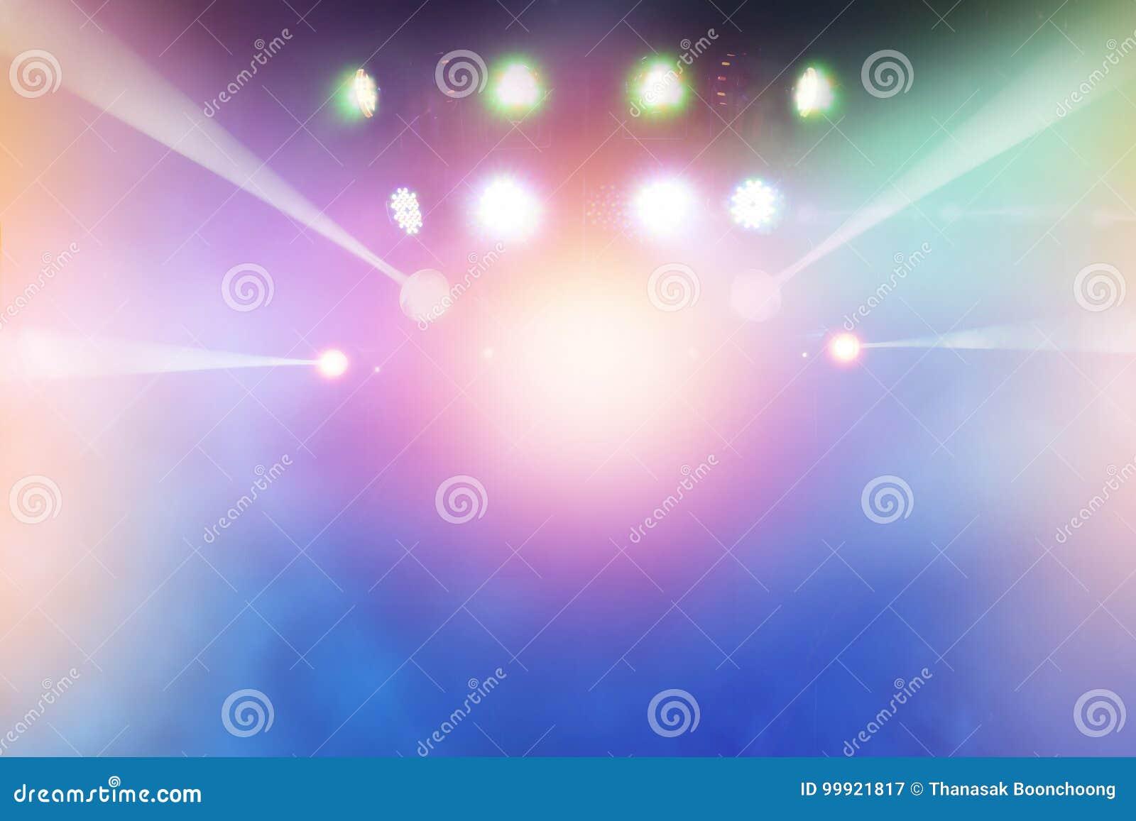 Multicolor lekcy promienie od sceny rozrywka