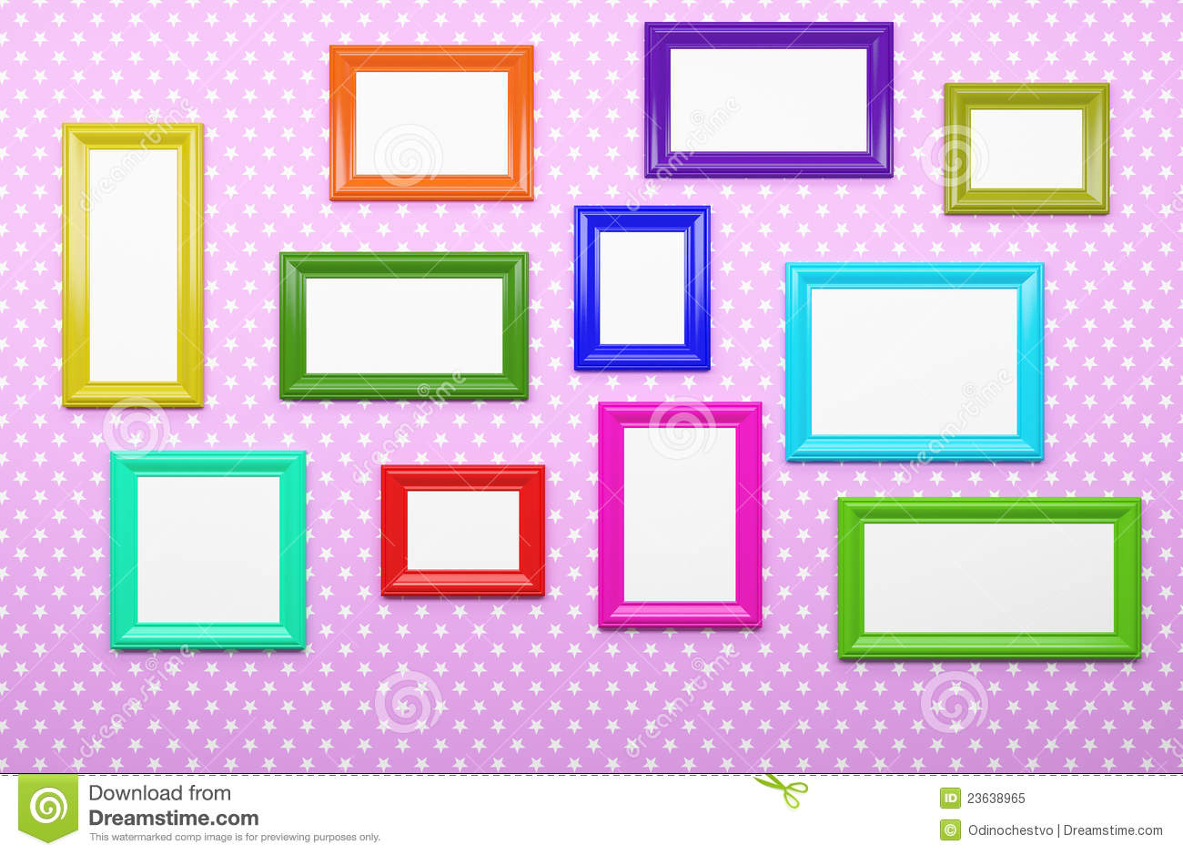 Multicolor Picture Frames Stock Illustration Illustration