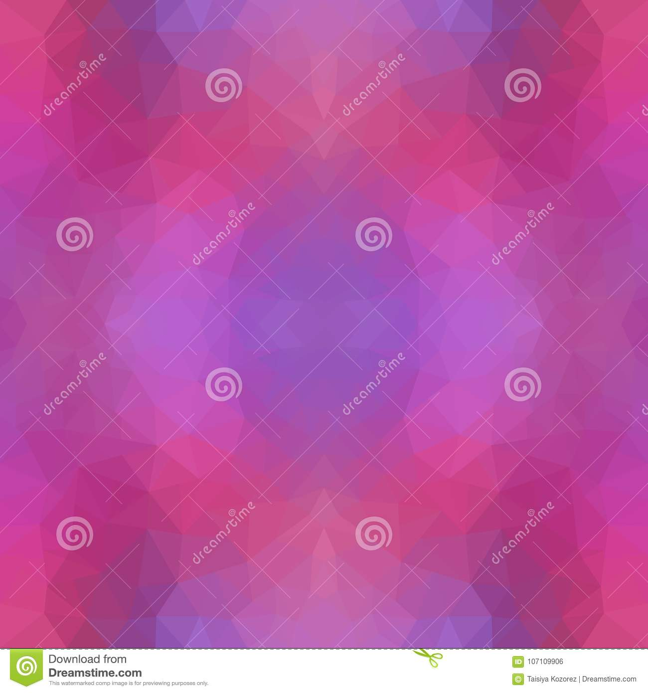 Multicolor purple, pink polygonal illustration, which consist of triangles. Geometric pattern in Origami style with