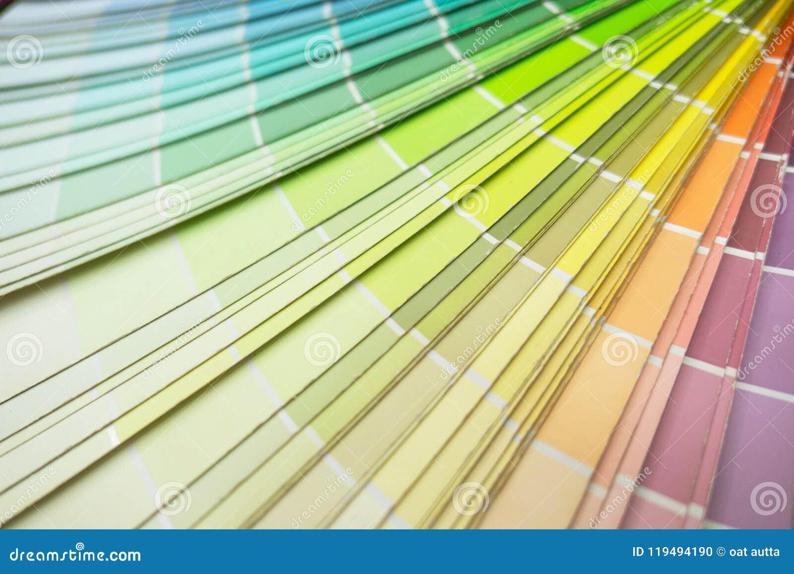 Multicolor Tone Color Palette Sample Closeup Color Guide Pastel