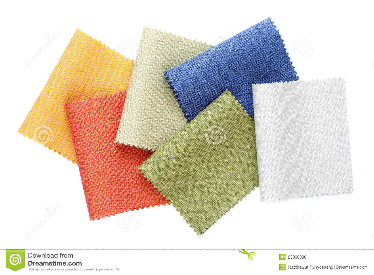 Multicolor Tone Of Fabric Sample Royalty Free Stock Image - Image ...