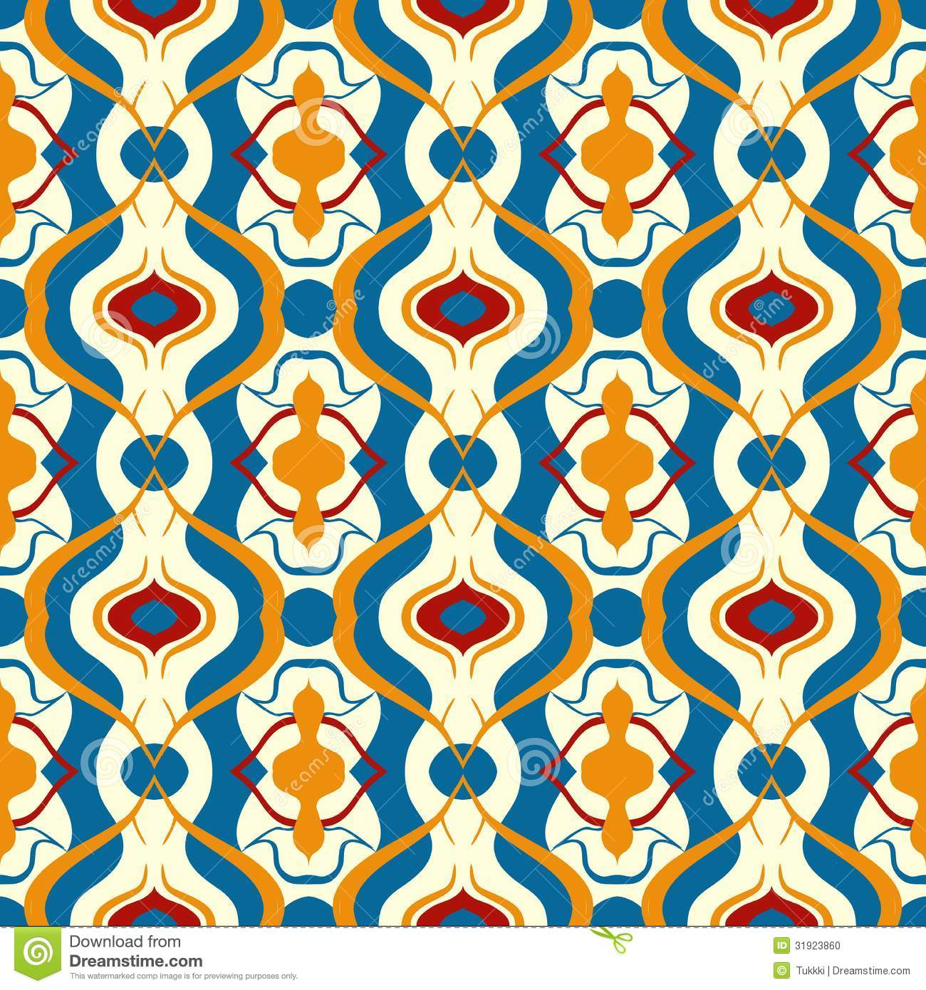 Multicolor Vector Pattern With Arabic Motif Stock Photo