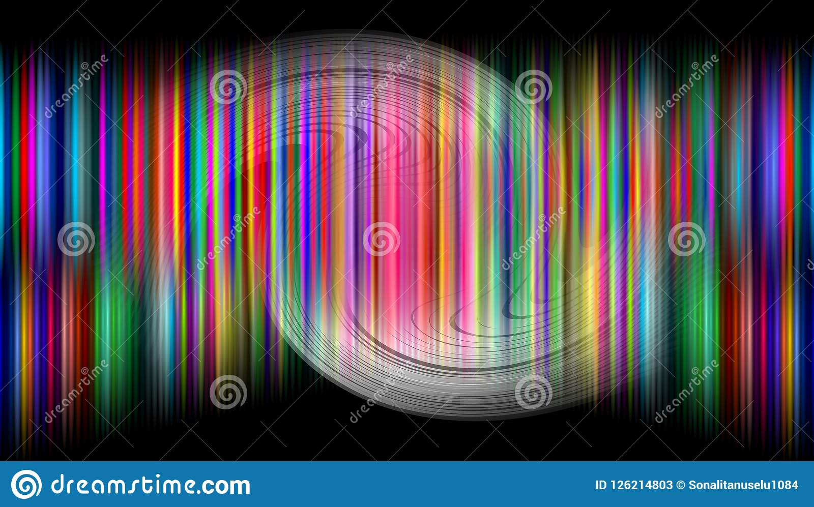 Abstract blur wavy background.