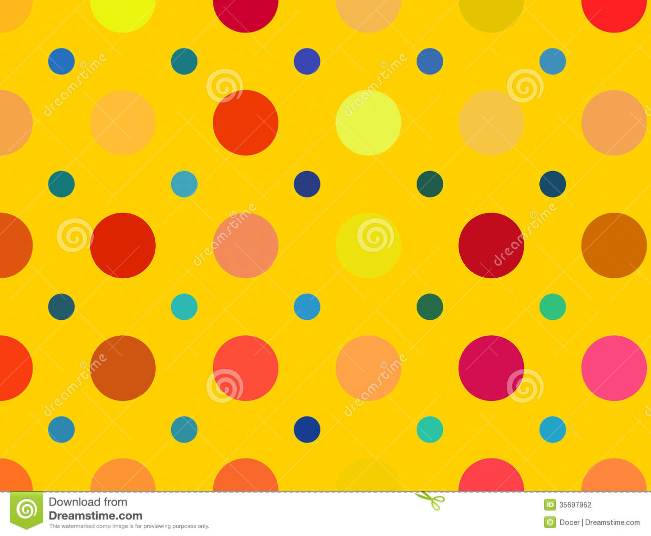 Multicolored Bright Polka Dots Pattern. Abstract ...
