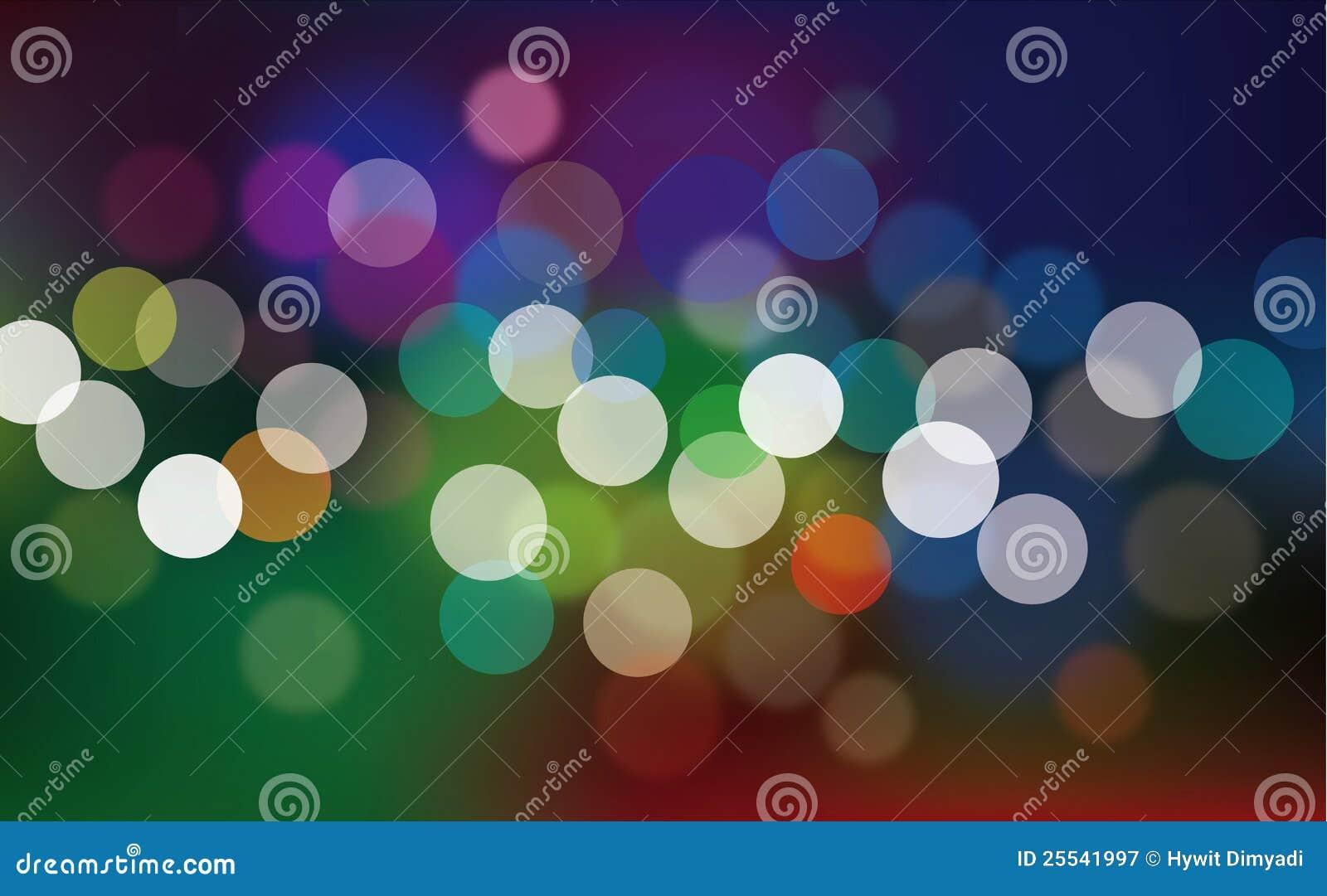Multicolored defocused abstracte lichten
