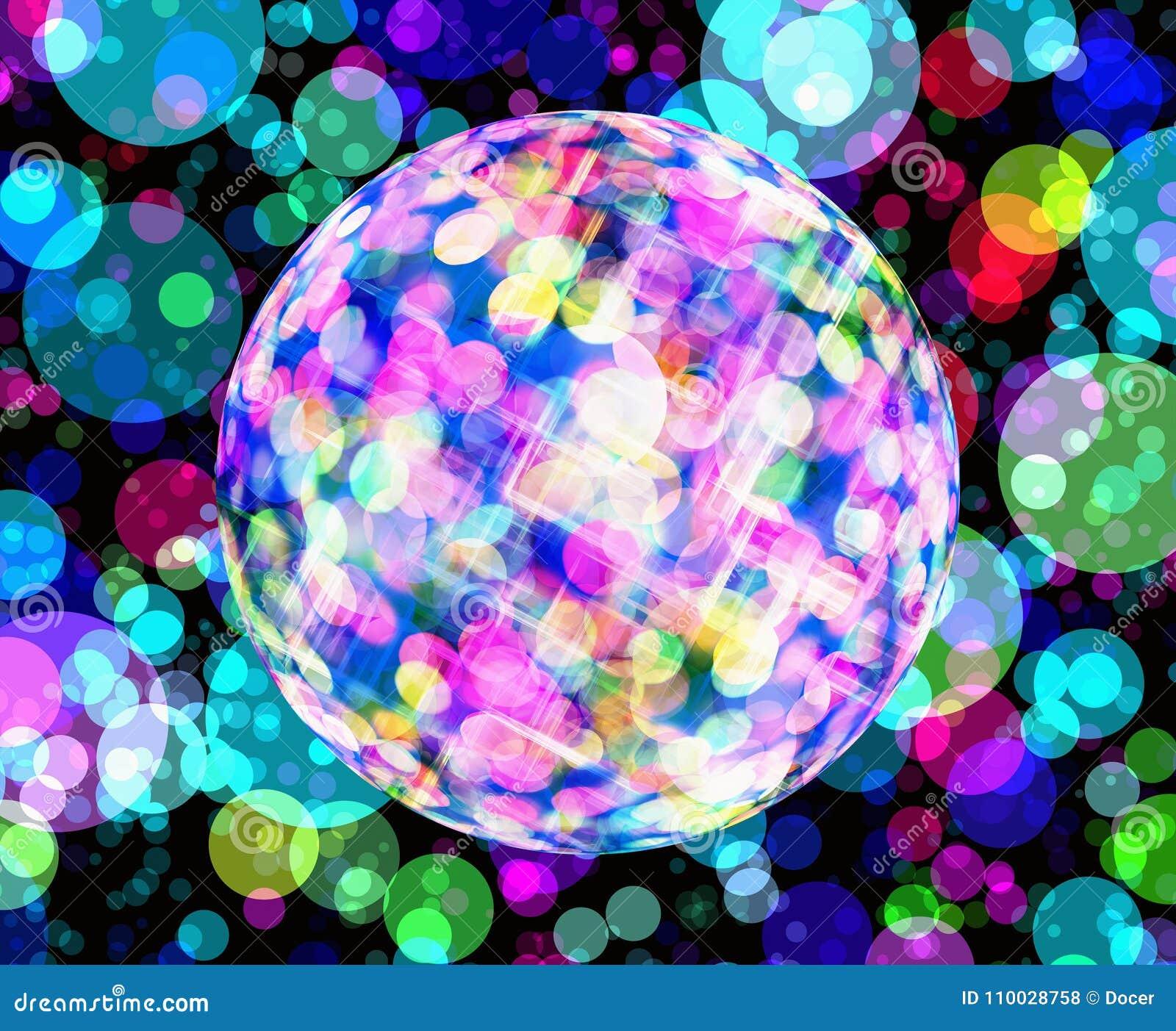 Multicolored discoballachtergronden