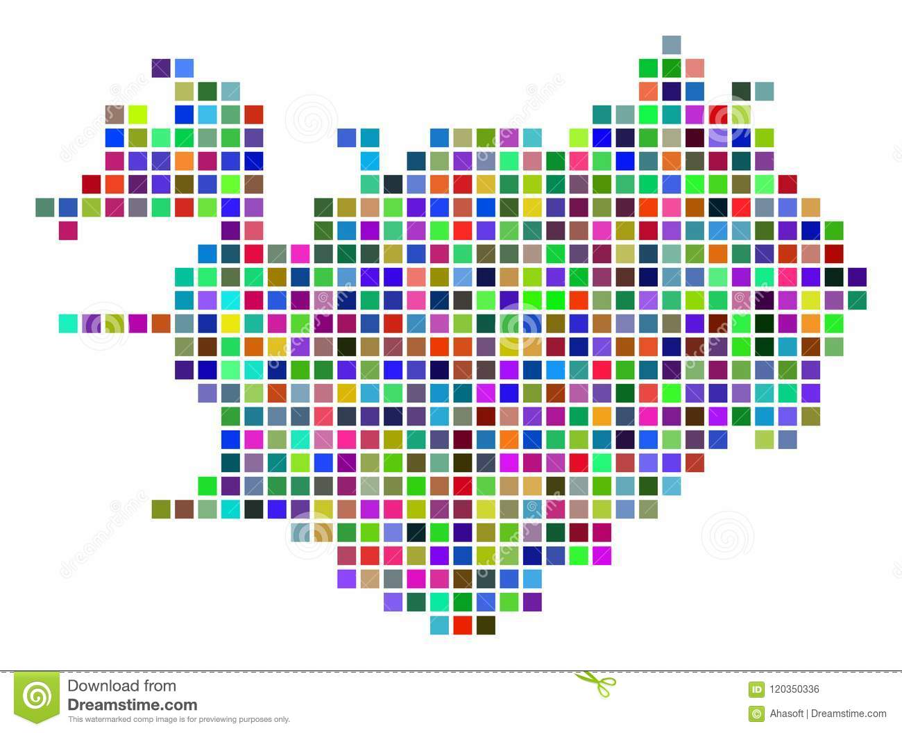 Multi Colored Dot Iceland Map Stock Vector - Illustration of nordic ...