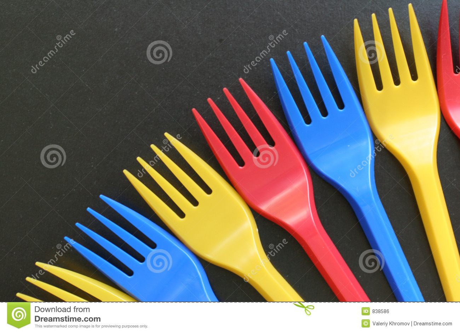 Multicolored forks