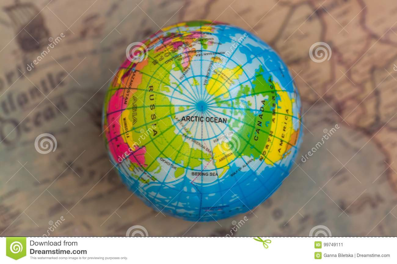 187dd5ef8446 Multicolored Globe Against The Background Of The World Map