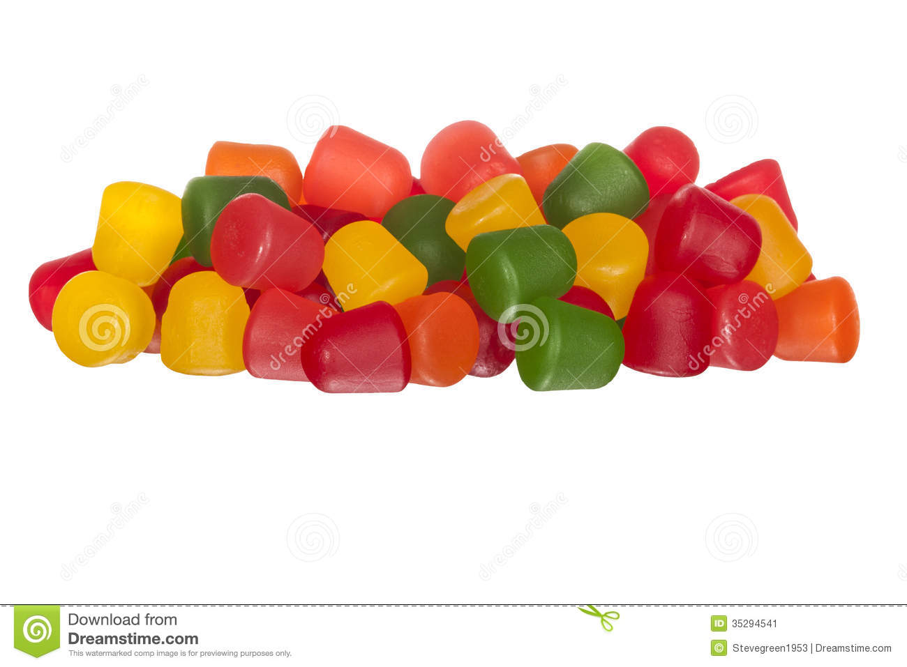 Multicolored Gummy Fruit Candy