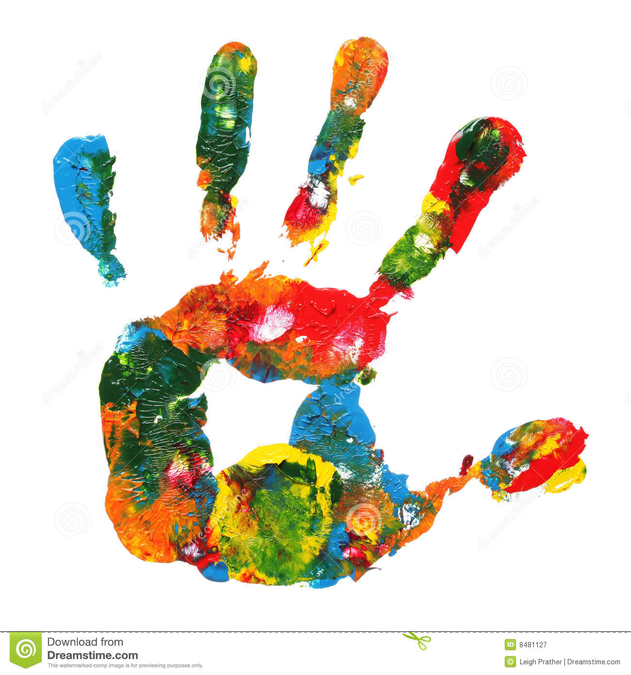 Multicolored Hand Print Royalty Free Stock Photography - Image ...