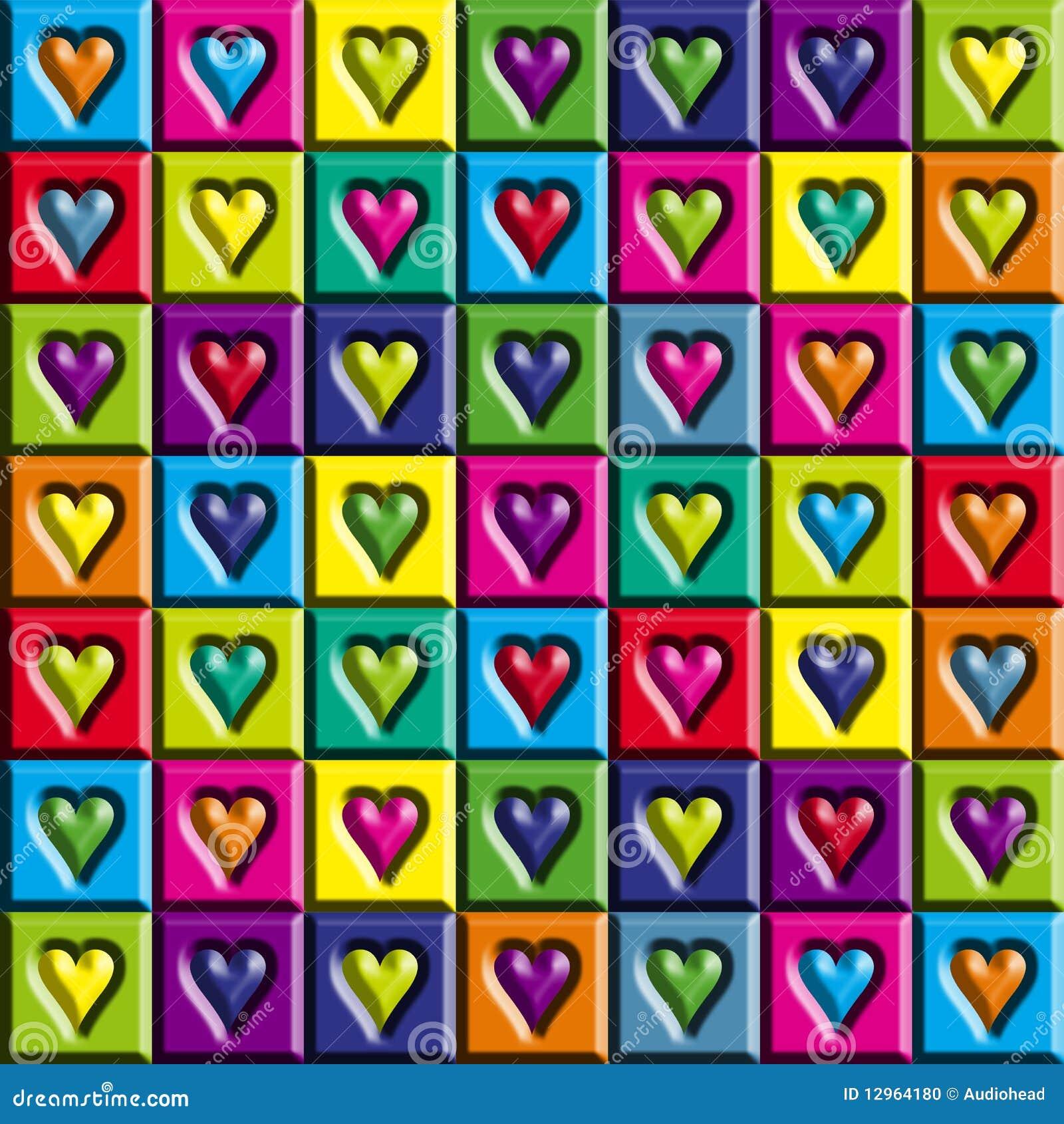 Multicolored Hearts
