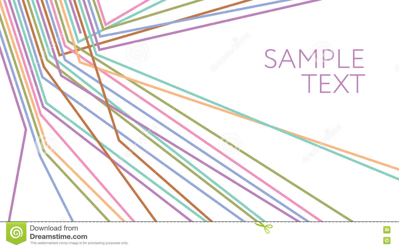 Multicolored Lines Abstract Background. Electric Wire Stock Vector ...