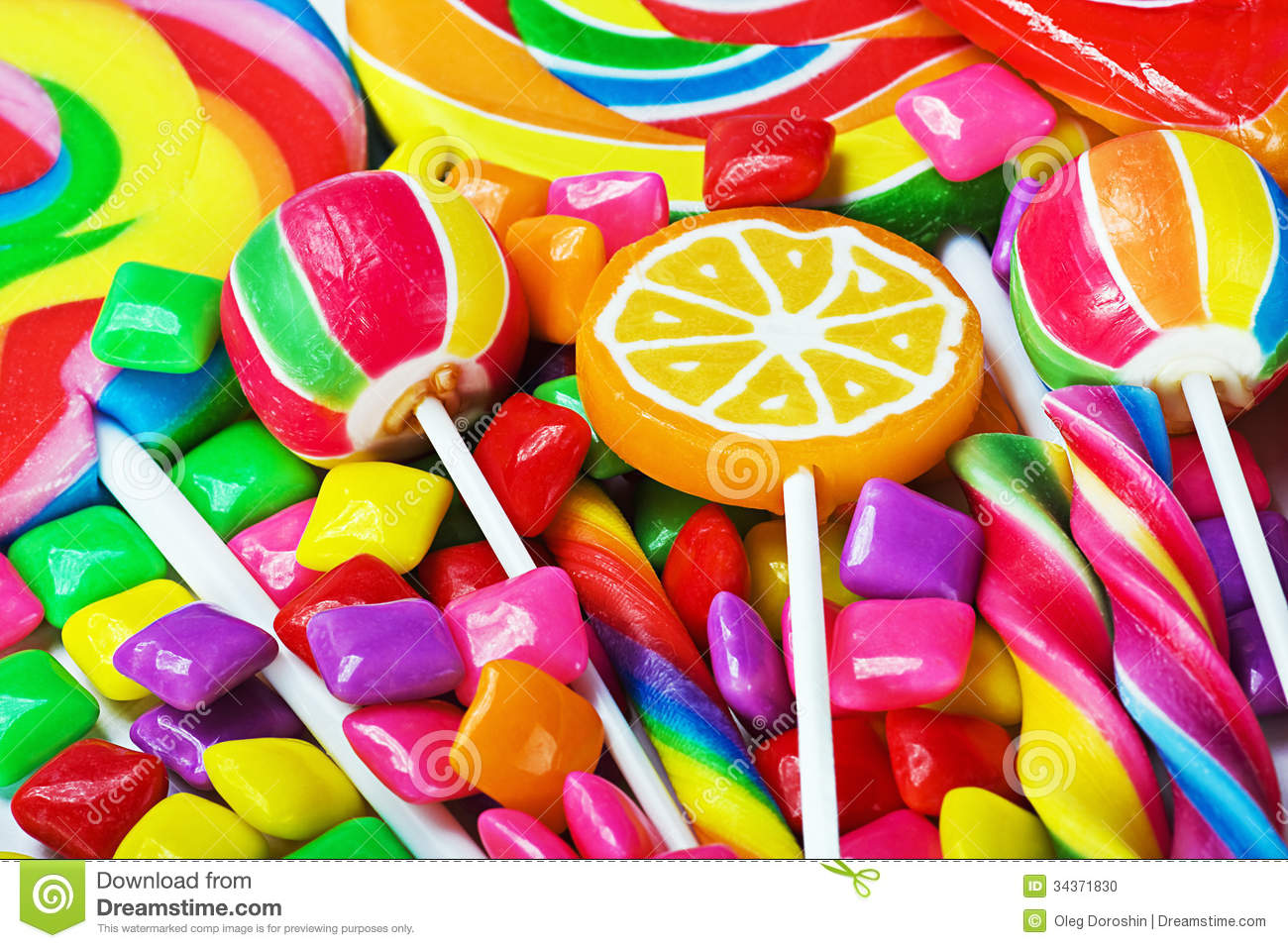 multicolored lollipops candy and chewing gum stock photo image of