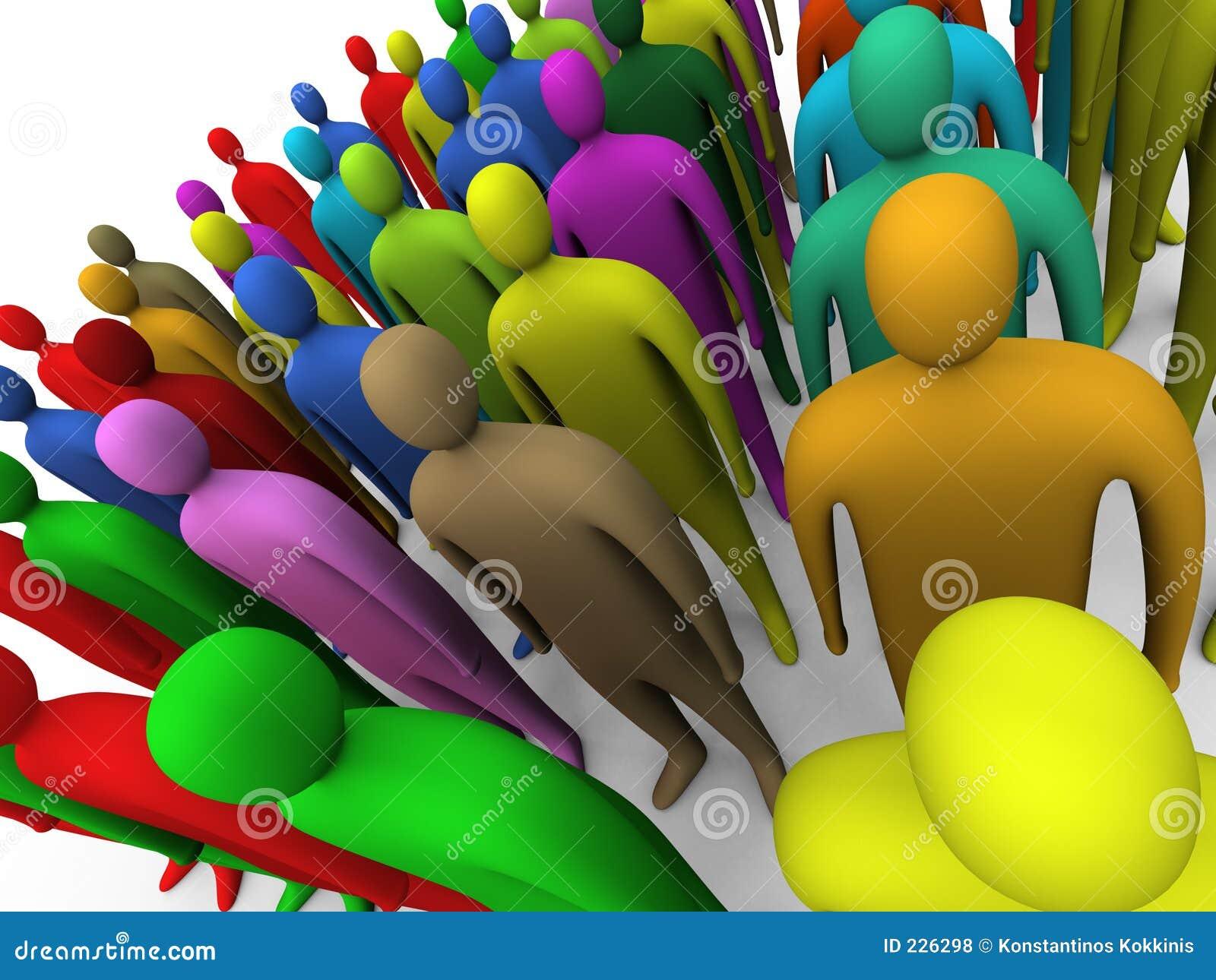 Multicolored menigte #2