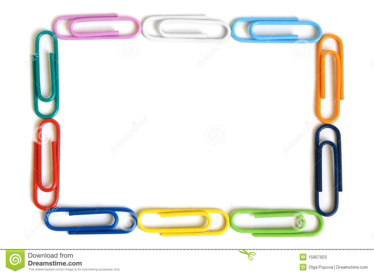multicolored paper clips stock image. image of decor - 15857923
