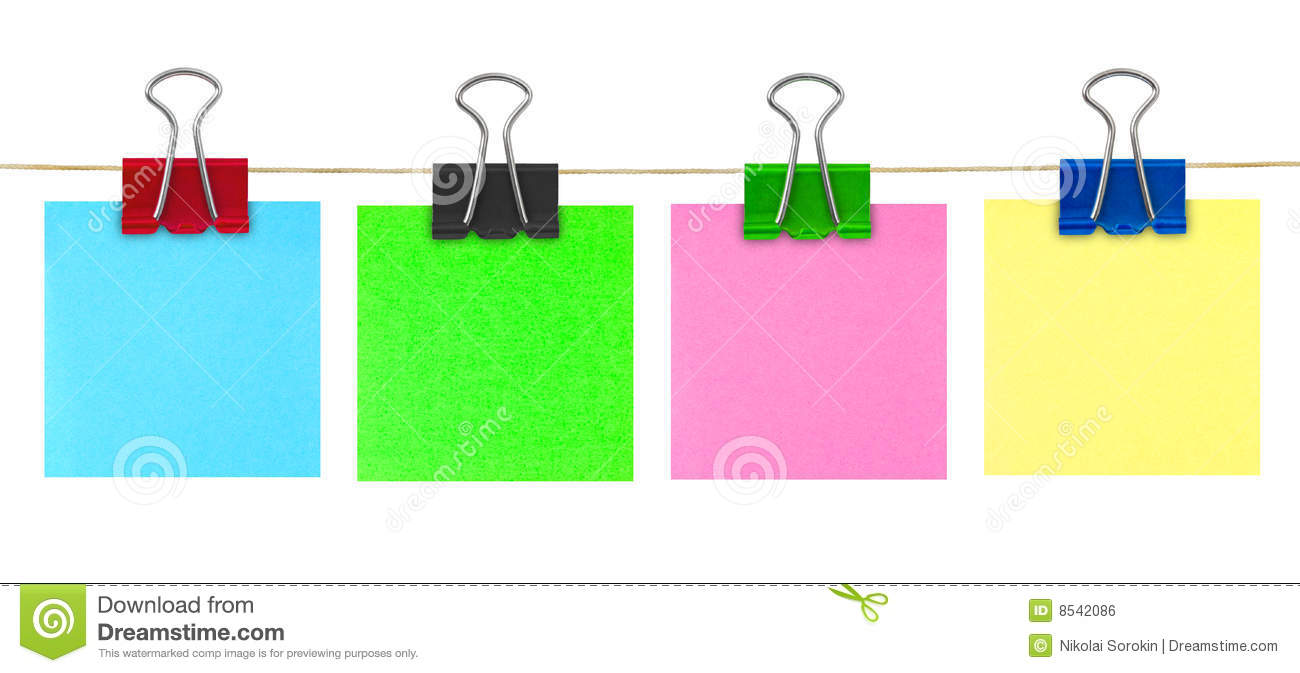 Multicolored Post-it Note Paper Royalty Free Stock Image - Image ...