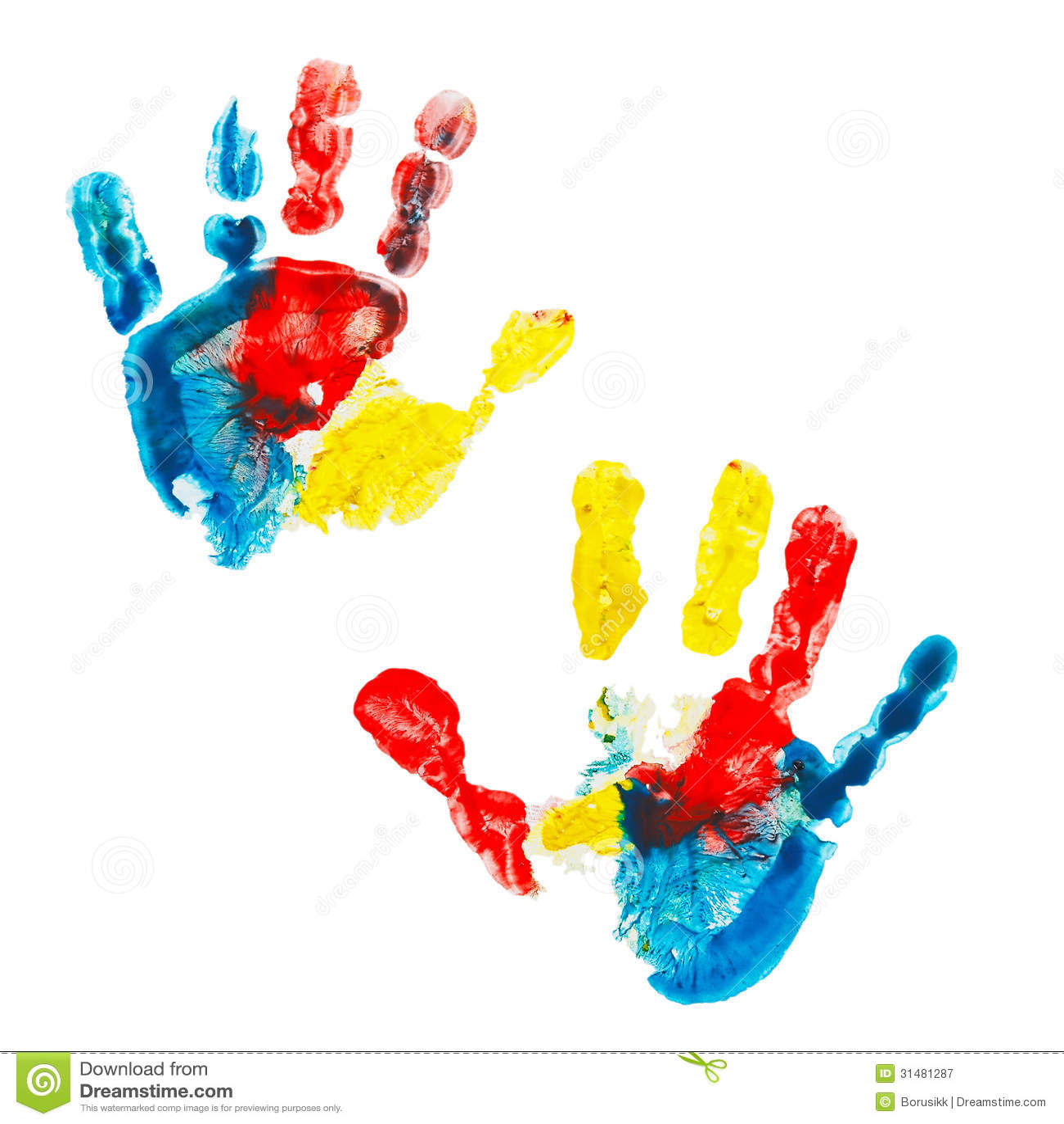 Как сделать отпечаток руки красками