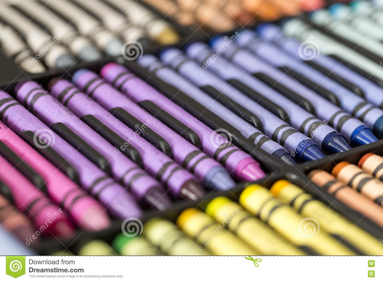 Multicolored Professional Artistic Pastel Crayons Stock ...