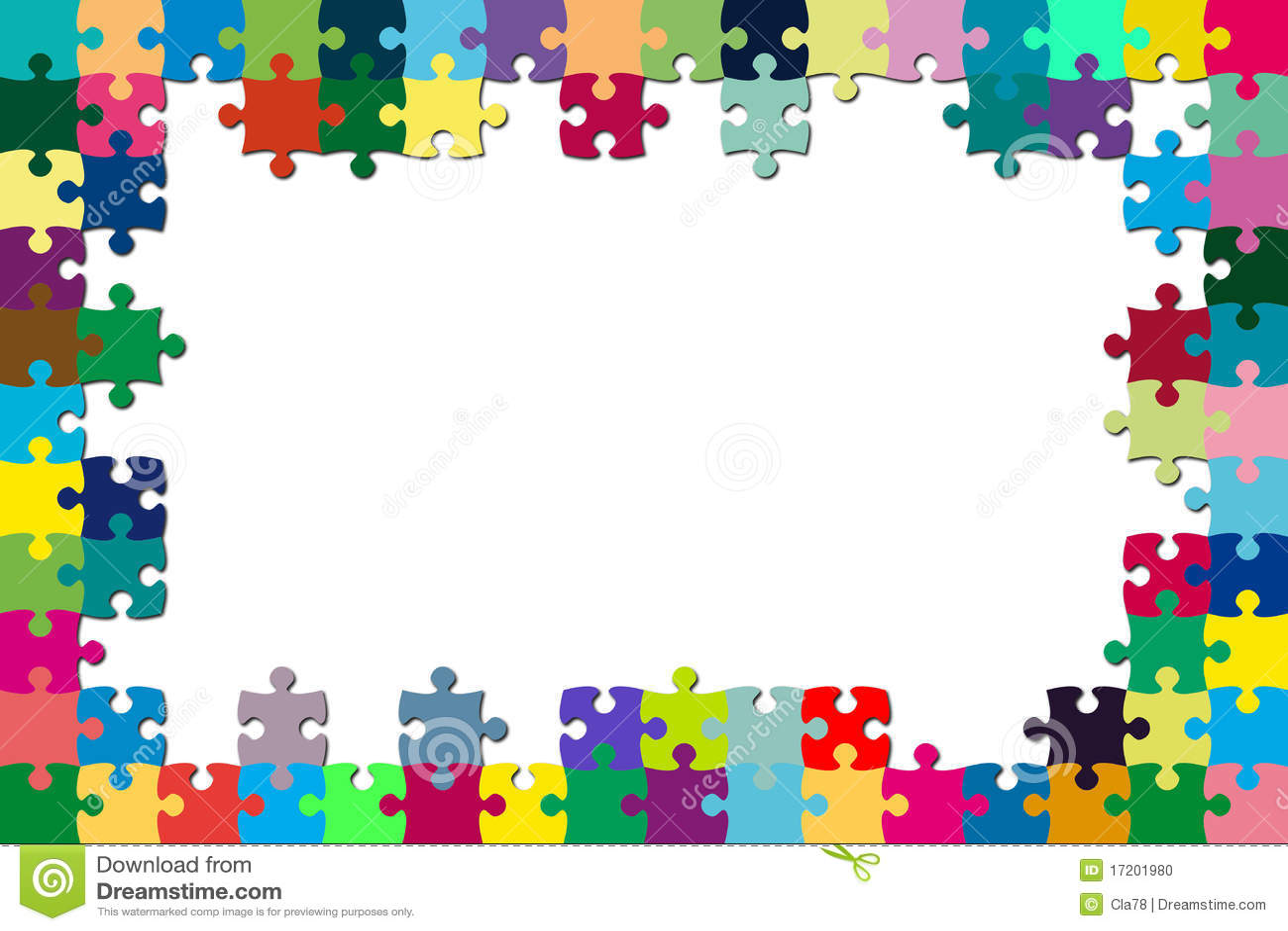 Multicolored puzzle frame stock illustration image of - Puzzles decorativos ...