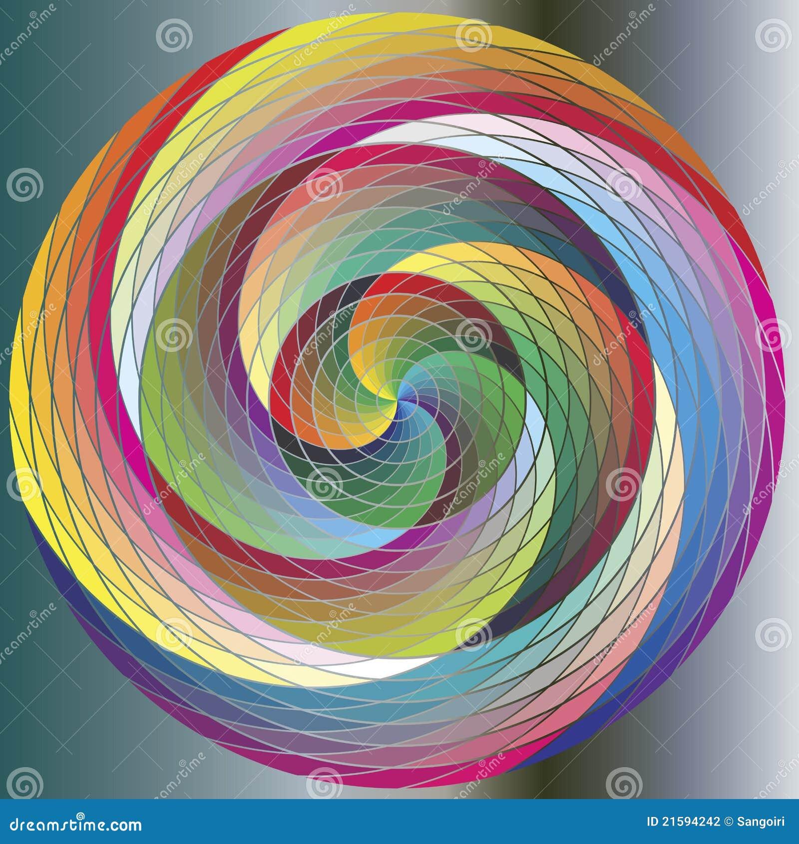 Quarter Of A Circle Clipart Multicolored Ra...