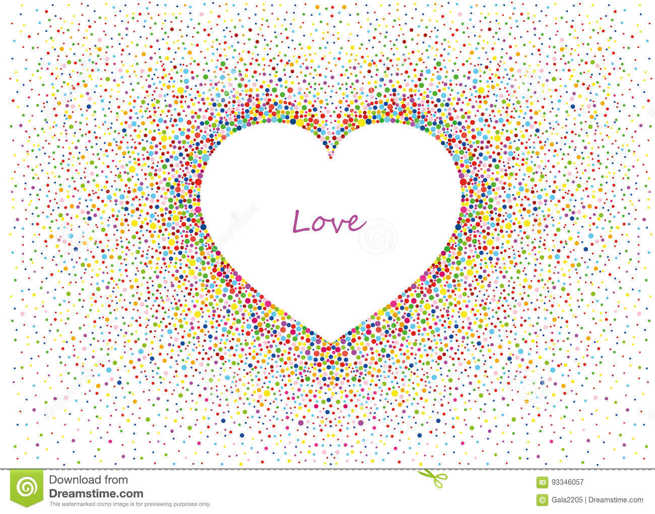 Multicolored rainbow confetti in the shape of a heart vector love multicolored rainbow confetti in the shape of a heart vector love stock vector illustration of celebration happy 93346057 stopboris