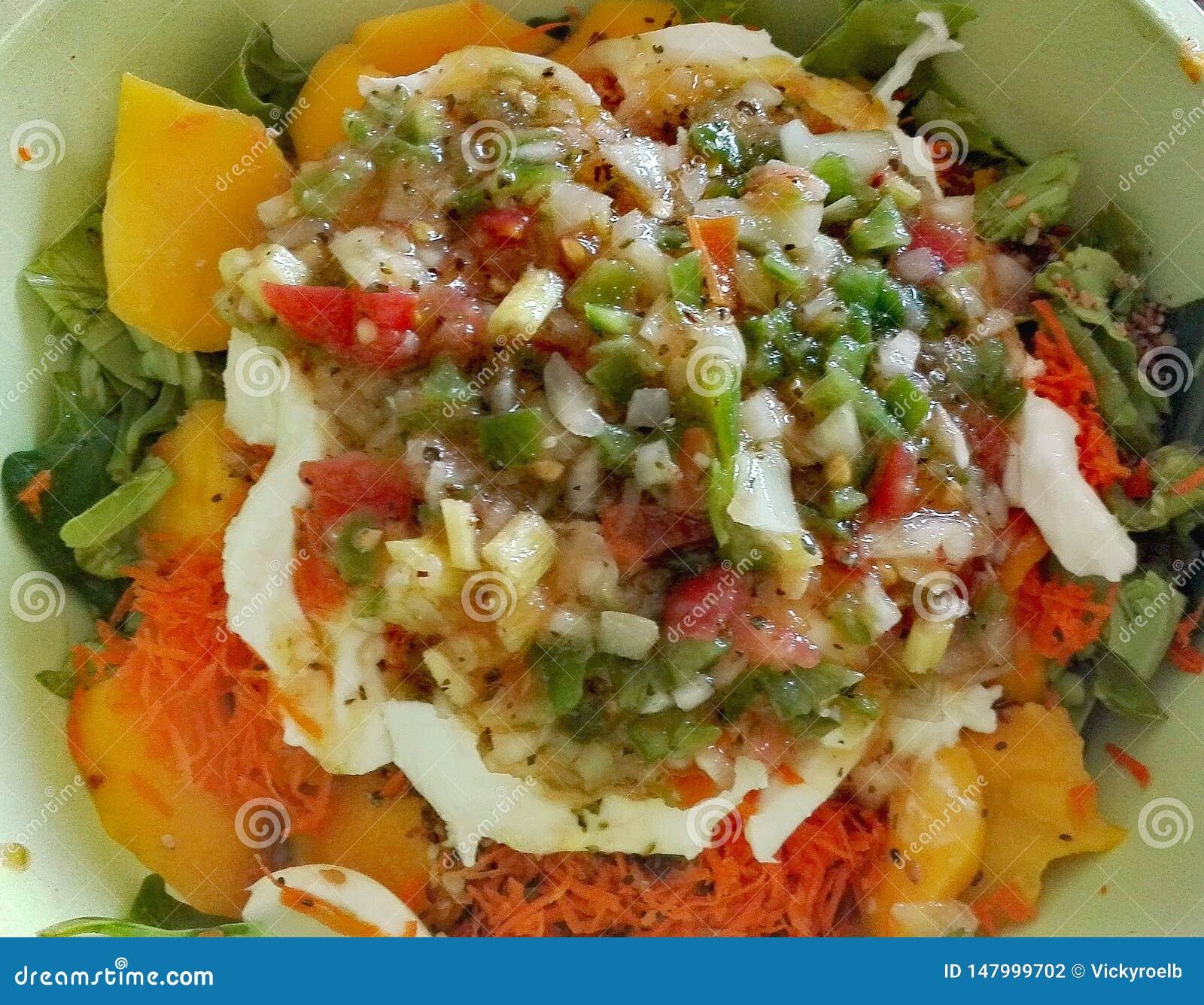 Multicolored salad