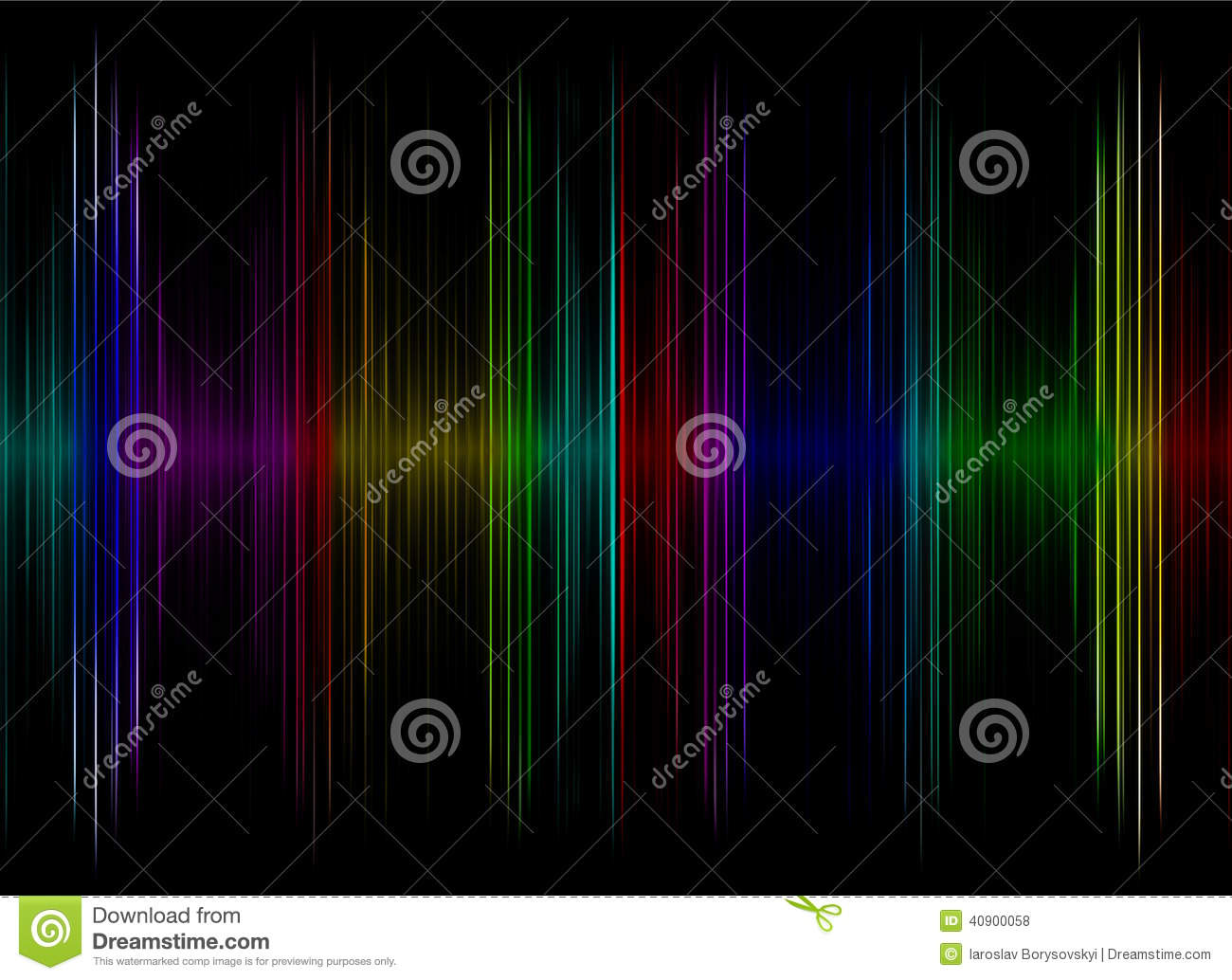 Multicolored sound equalizer display as abstract background.
