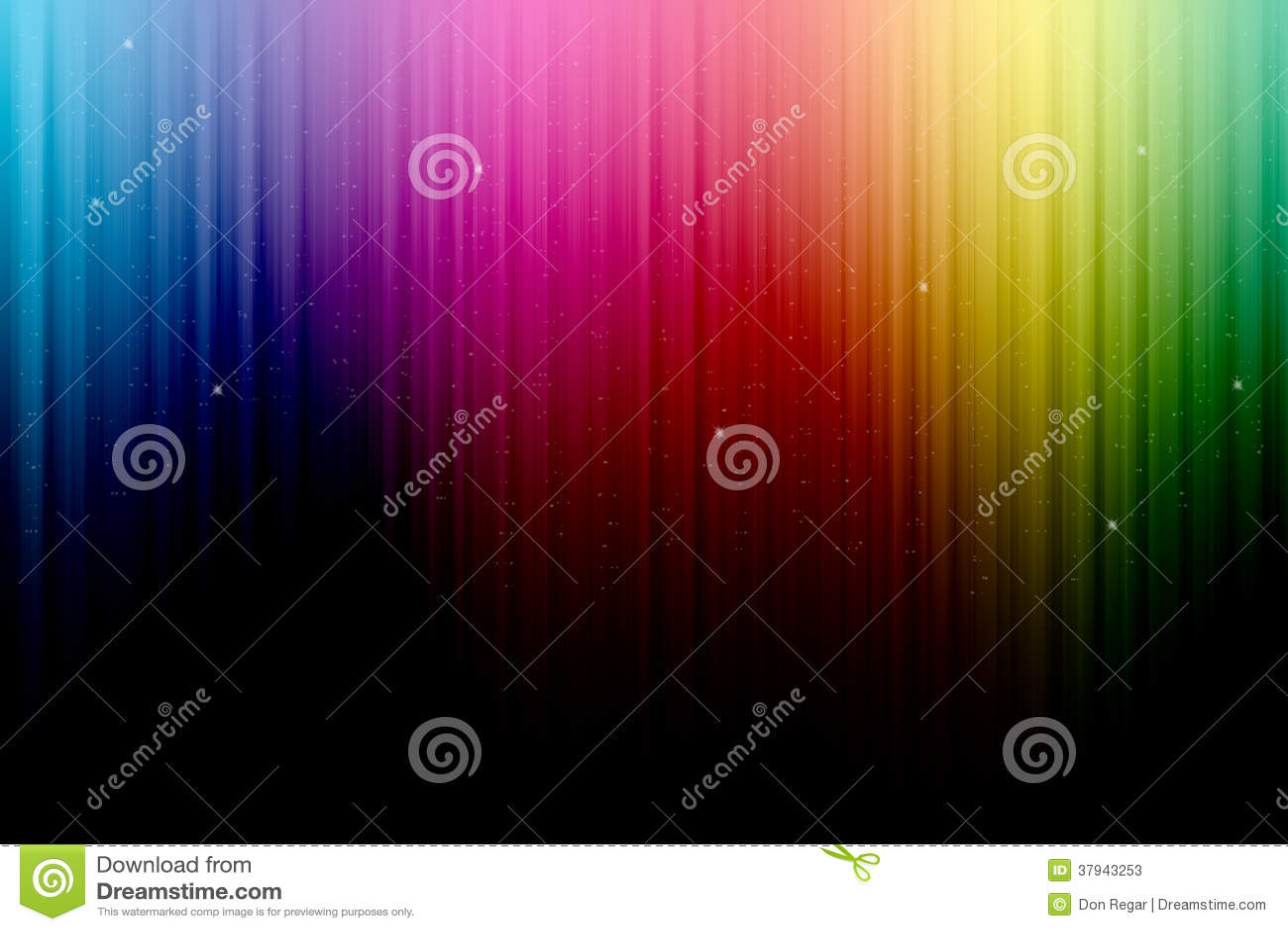 Multicolored Stadiumgordijn