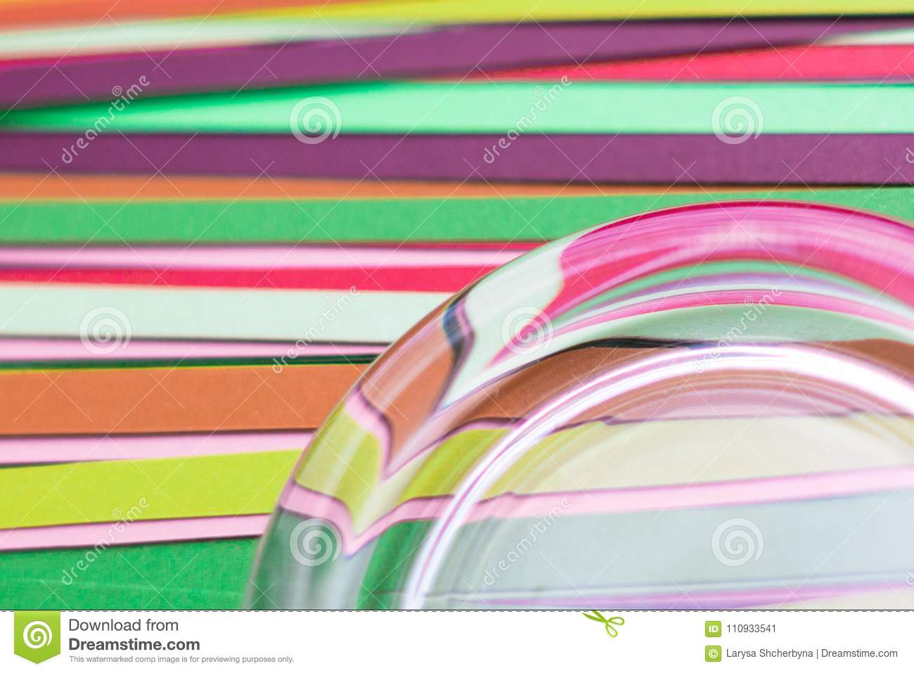 multicolored strips of colored paper as a background stock image